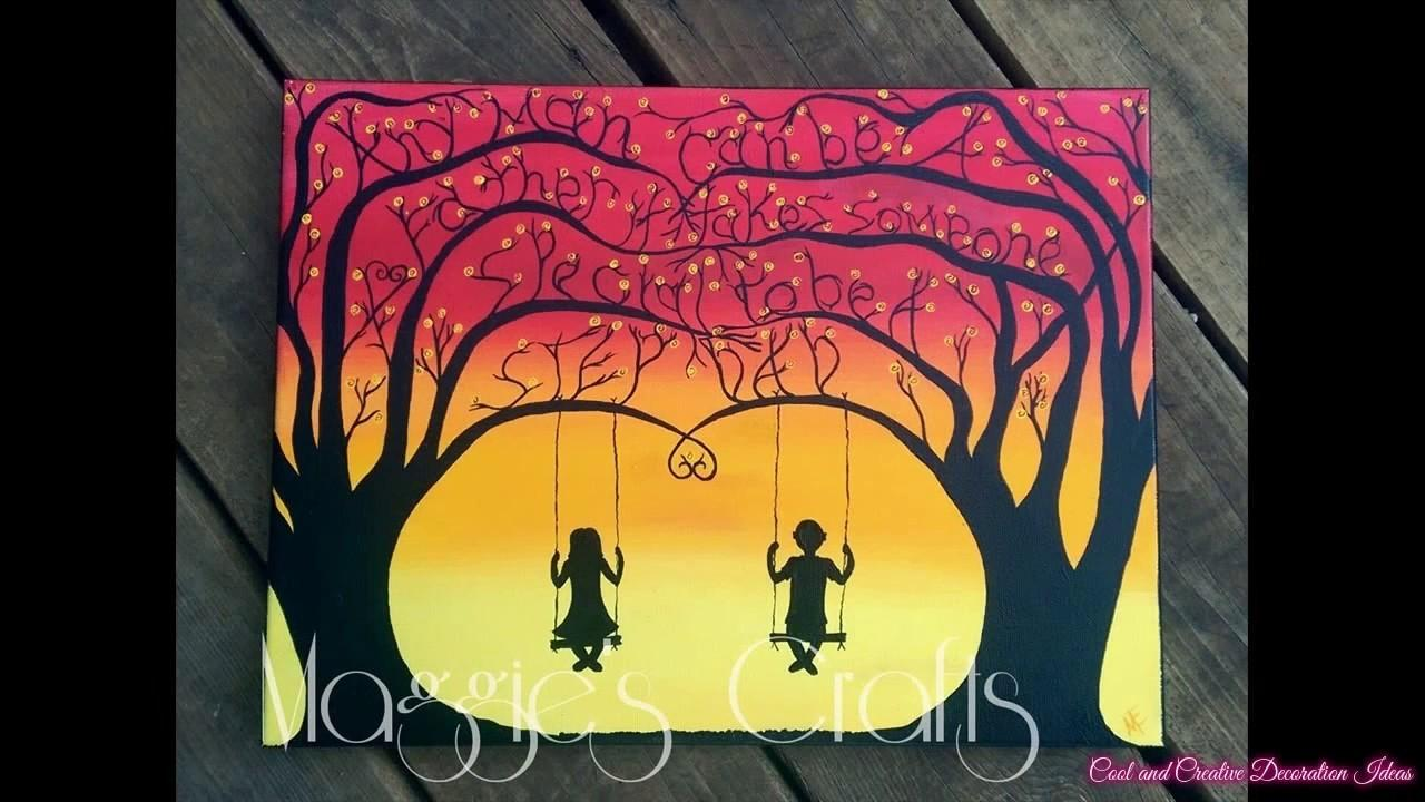 Cute Painting Ideas Canvas Pixshark