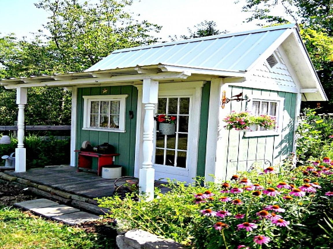 Cute Porch Ideas Country Garden Sheds Cottage Shed