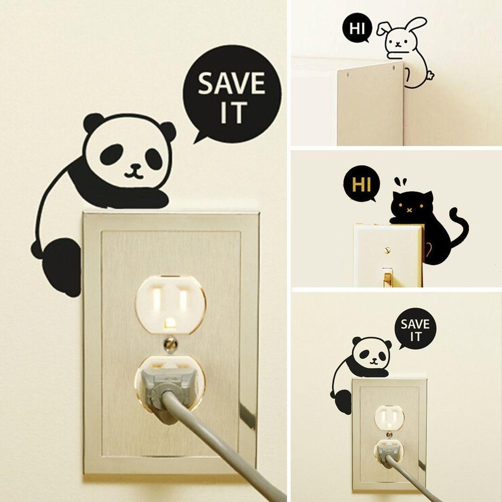 Cute Removable Home Office Light Switch Funny Wall Decal