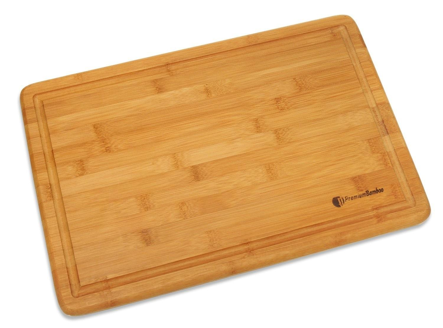 Cutting Board Thick Strong Bamboo Wood Drip Groove