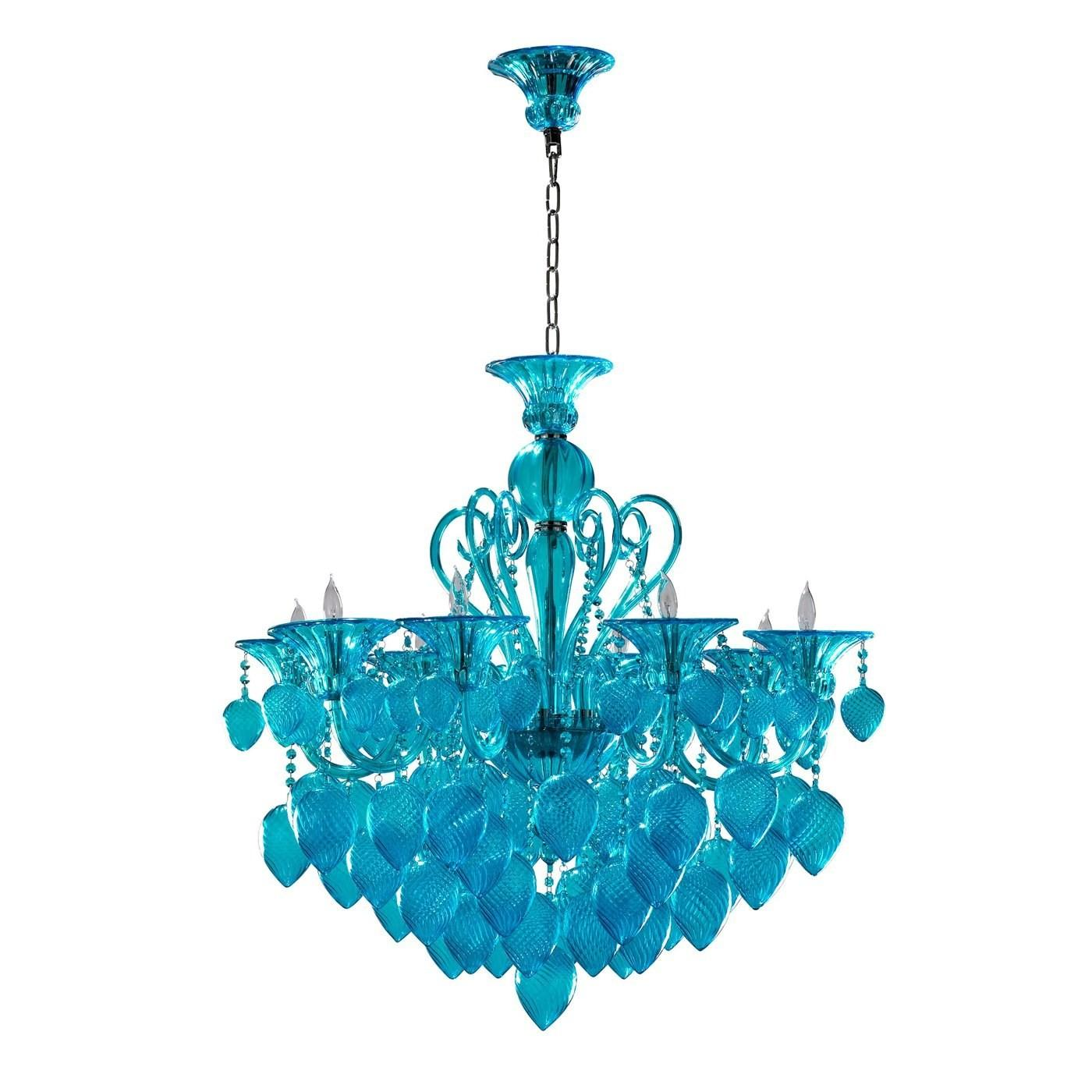 Cyan Design Chianti Light Chandelier Aqua