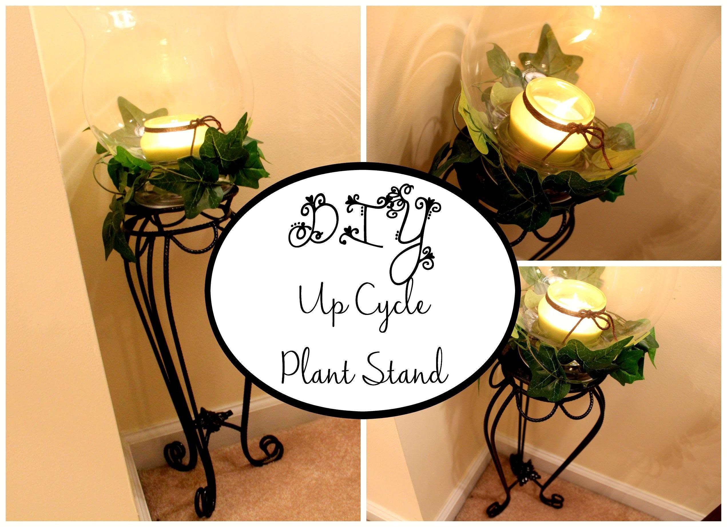 Cycled Plant Stand Diy