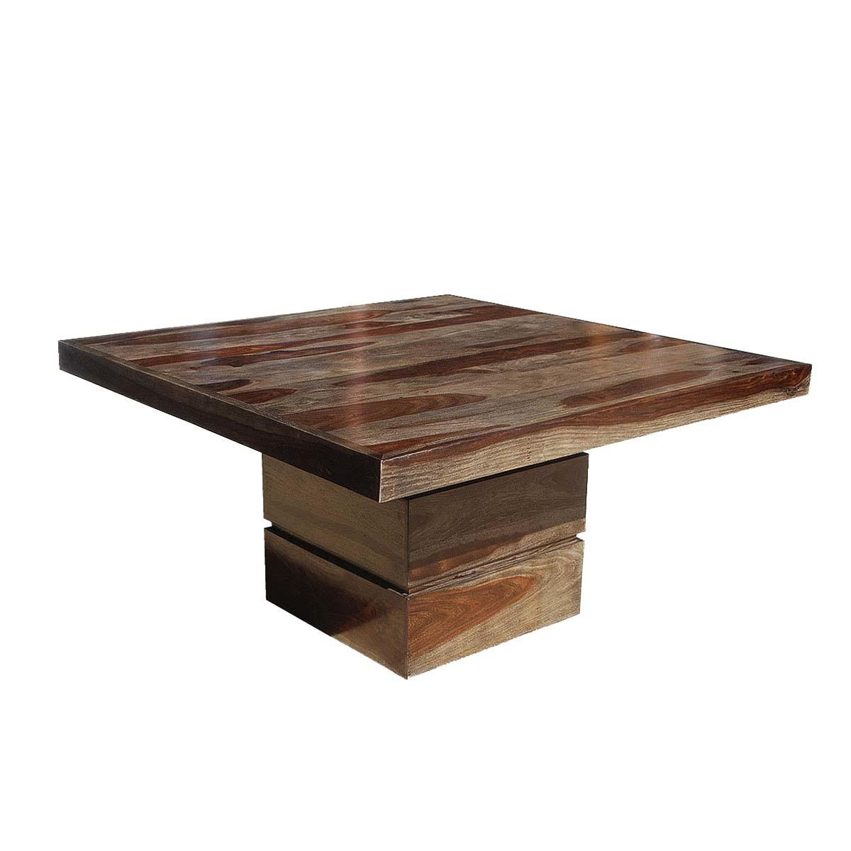 Dallas Modern Solid Wood Square Pedestal Dining Table