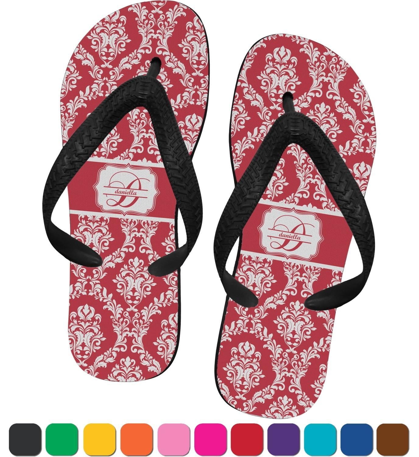 Damask Flip Flops Small Personalized Youcustomizeit
