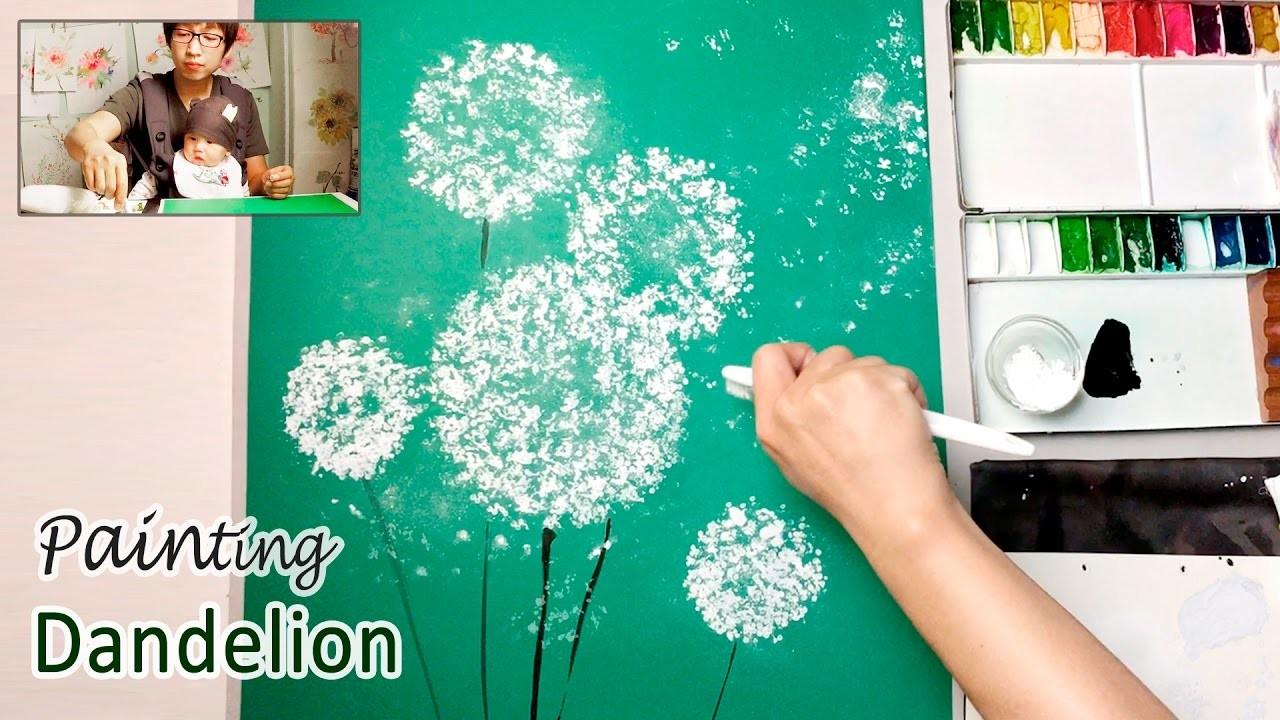Dandelion Painting Techniques Beginners Easy