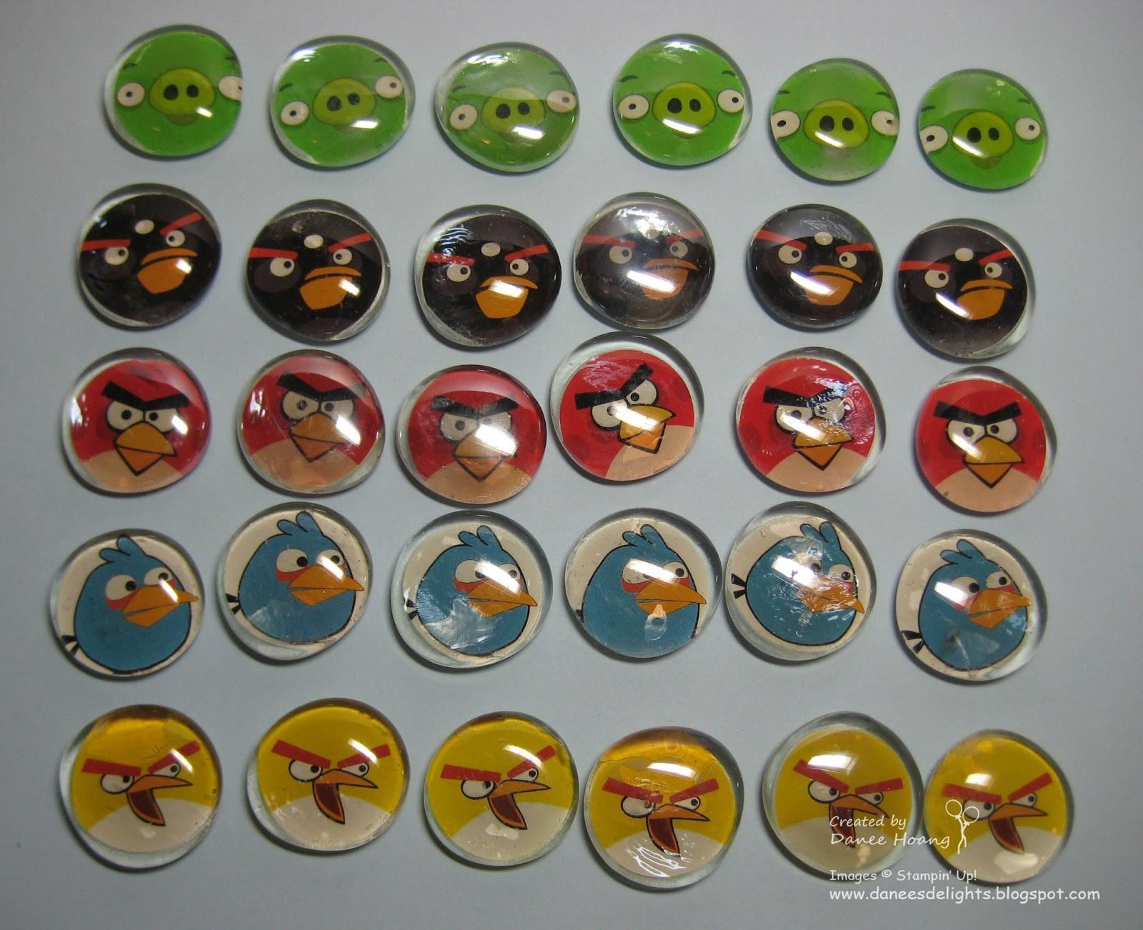 Danee Stampin Delights Angry Birds Magnets