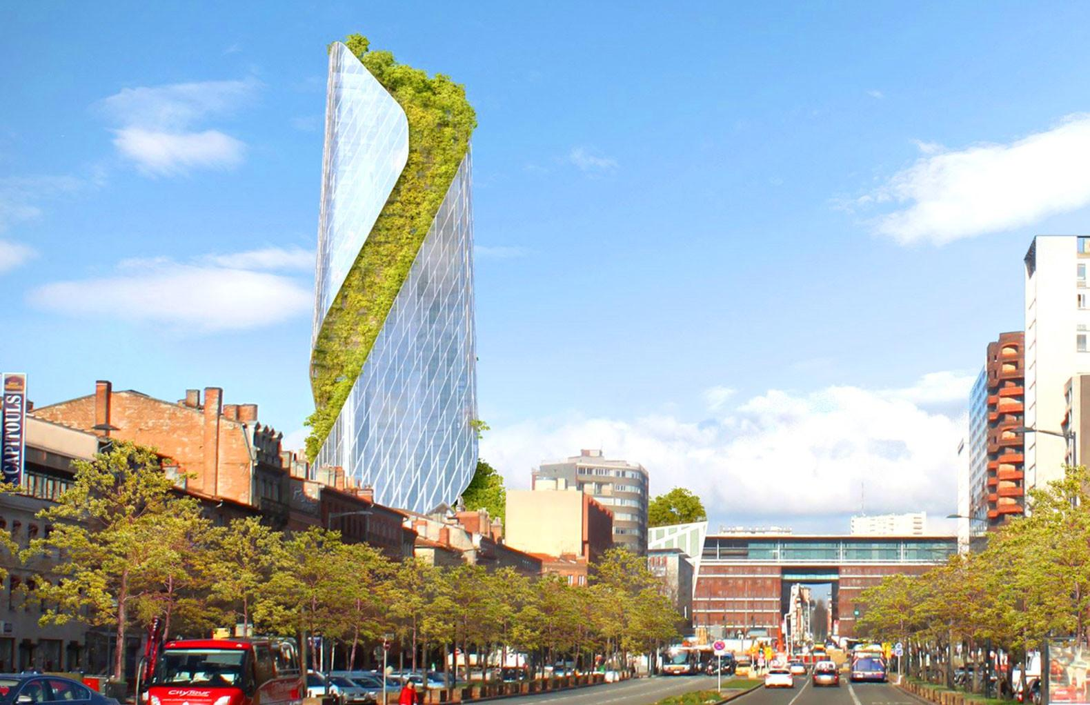 Daniel Libeskind Unveils Twisted Tree Covered Skyscraper