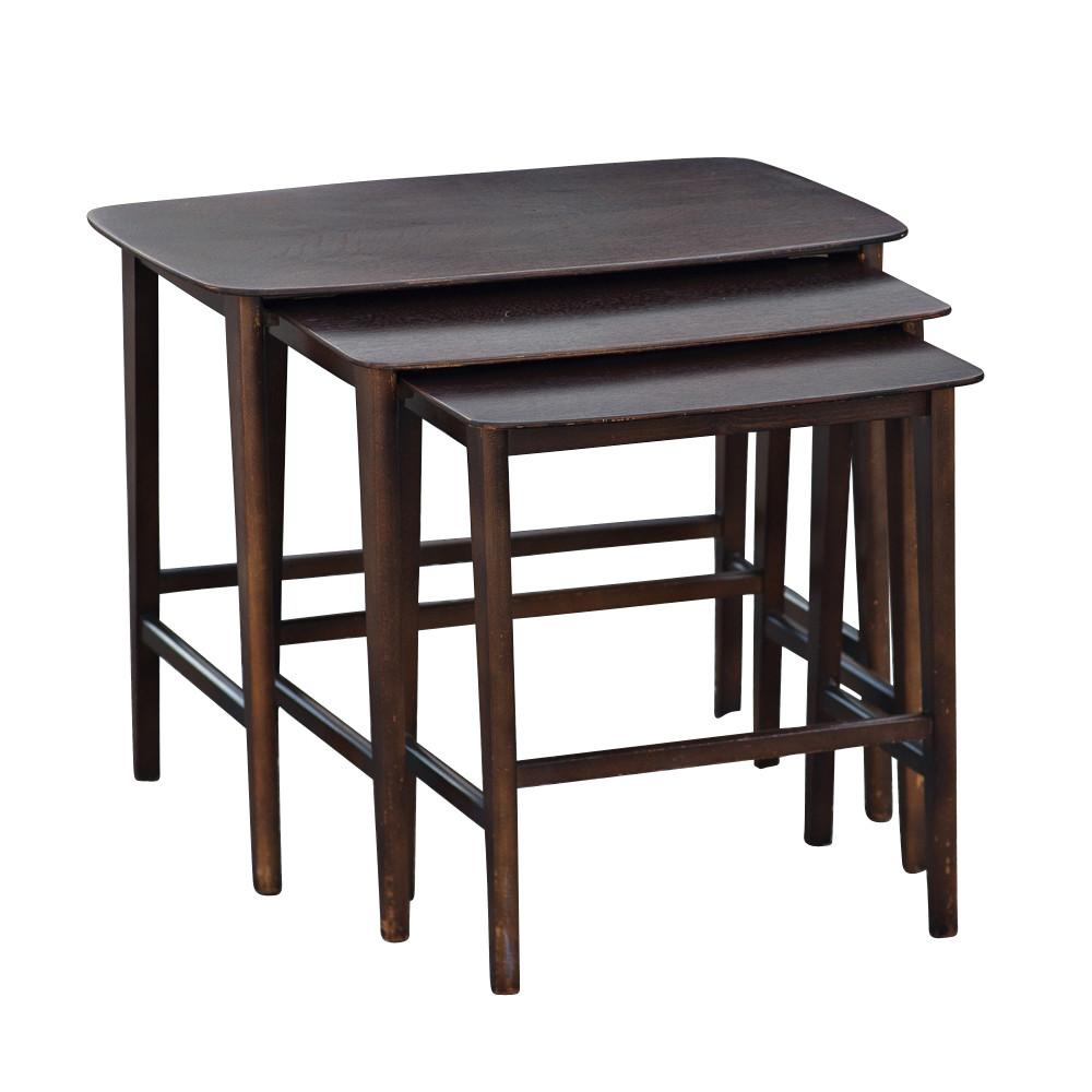 Danish Mid Century Modern Set Nesting Tables