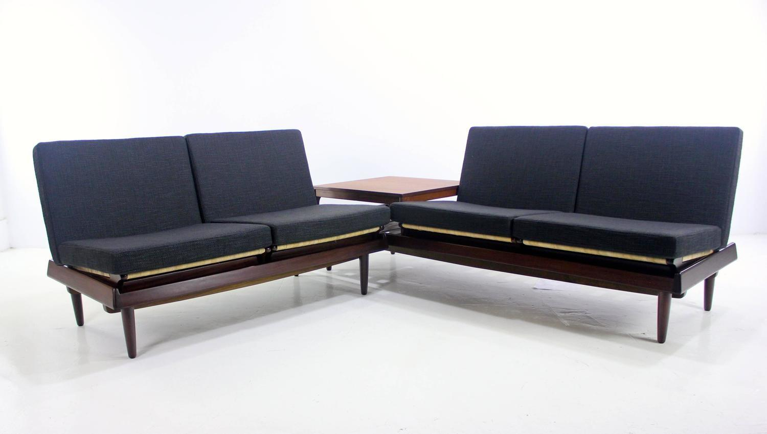 Danish Modern Modular Seating Group Designed Hans Olsen