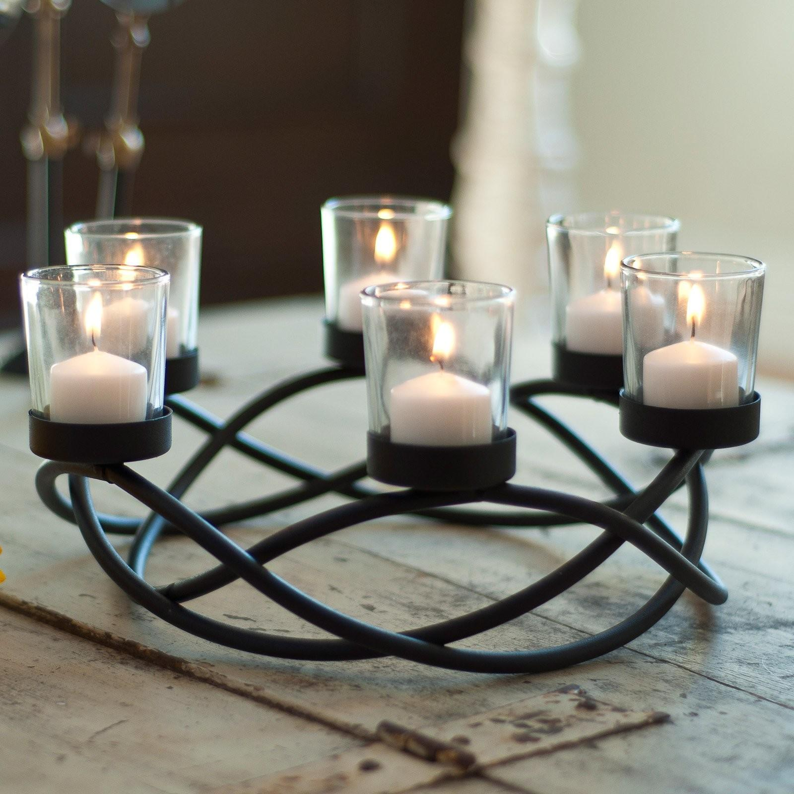 Danya Round Waves Candleholder Candle Holders