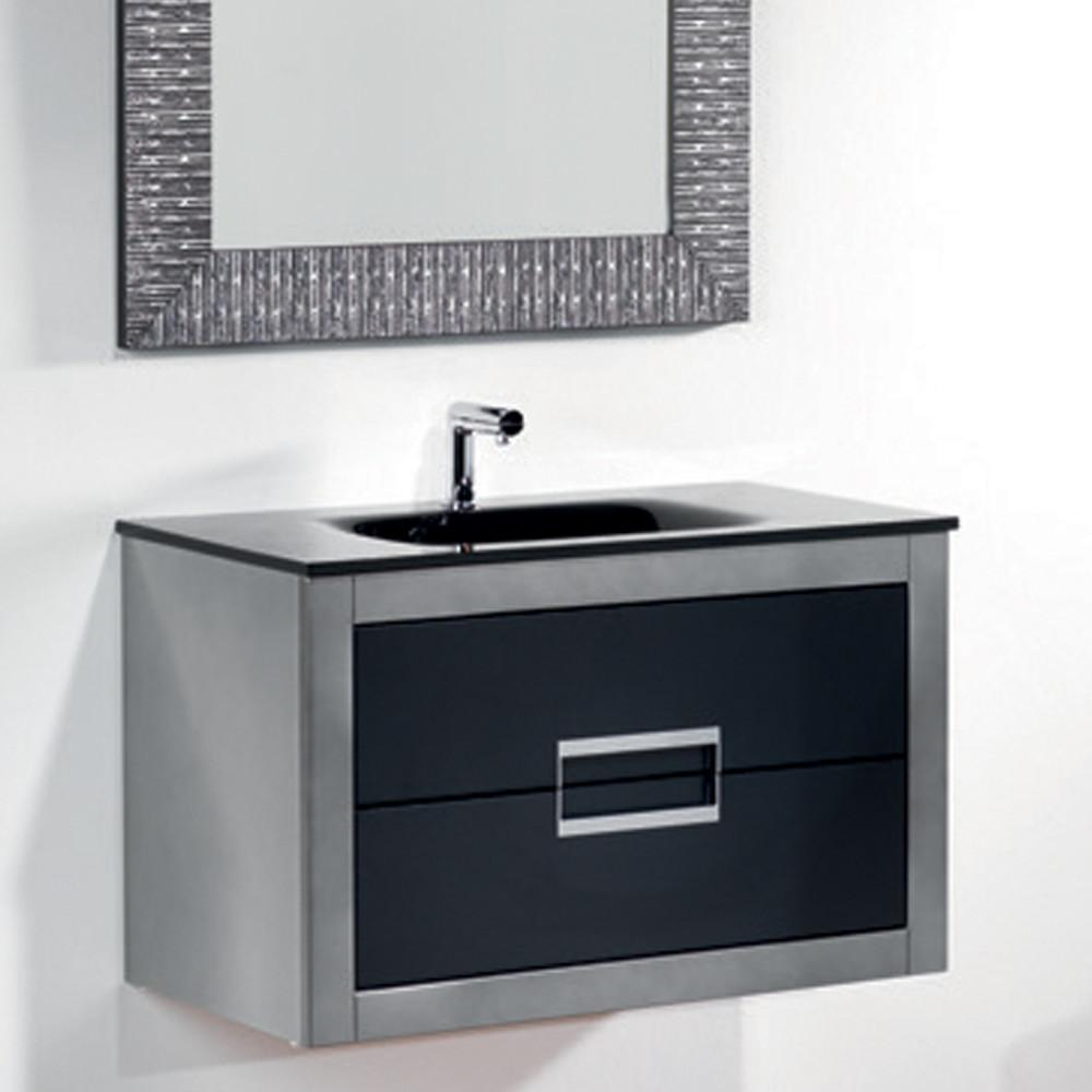 Danya Silver Leather Modern Bathroom Vanity Inch