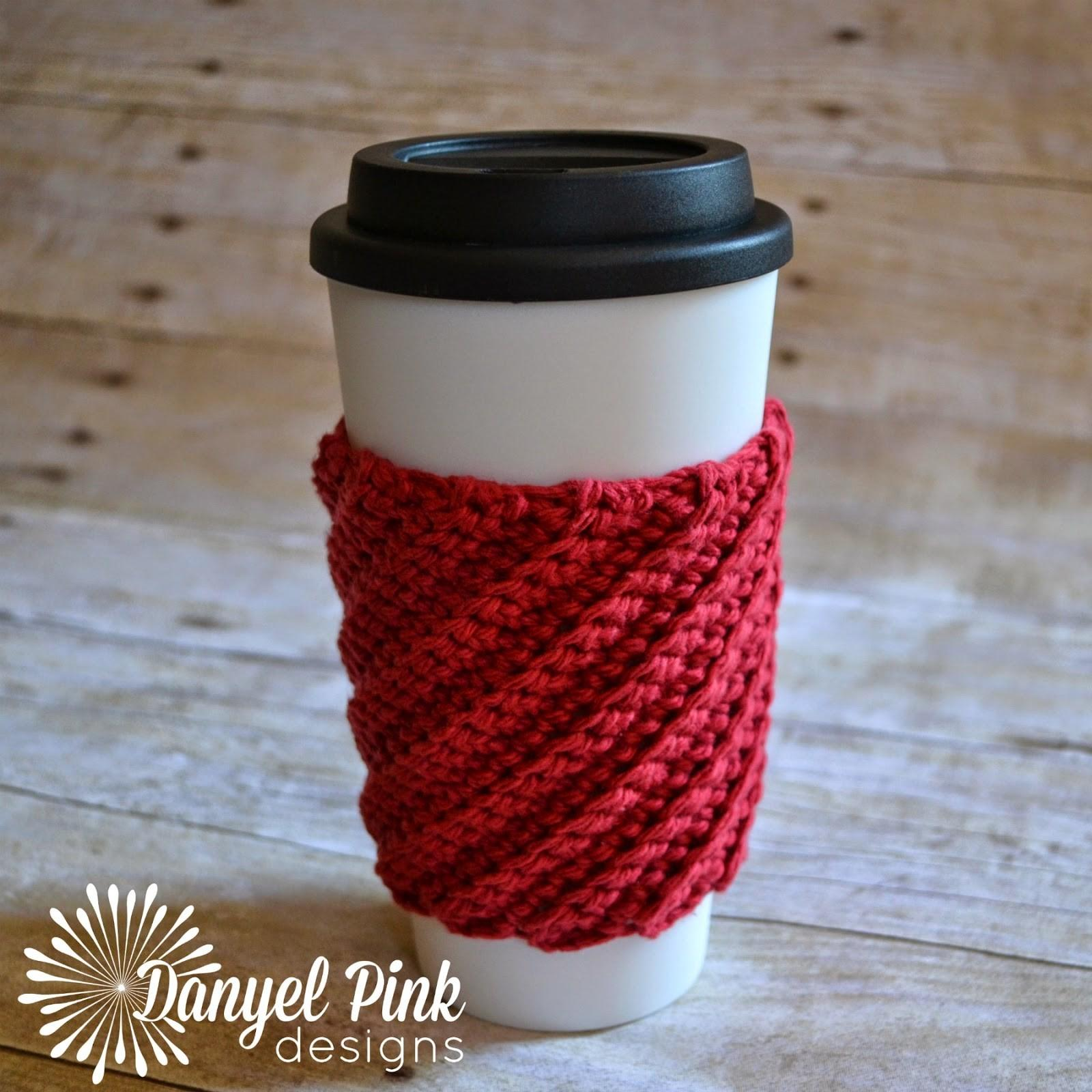Danyel Pink Designs Crochet Pattern Crooked Coffee Cozy