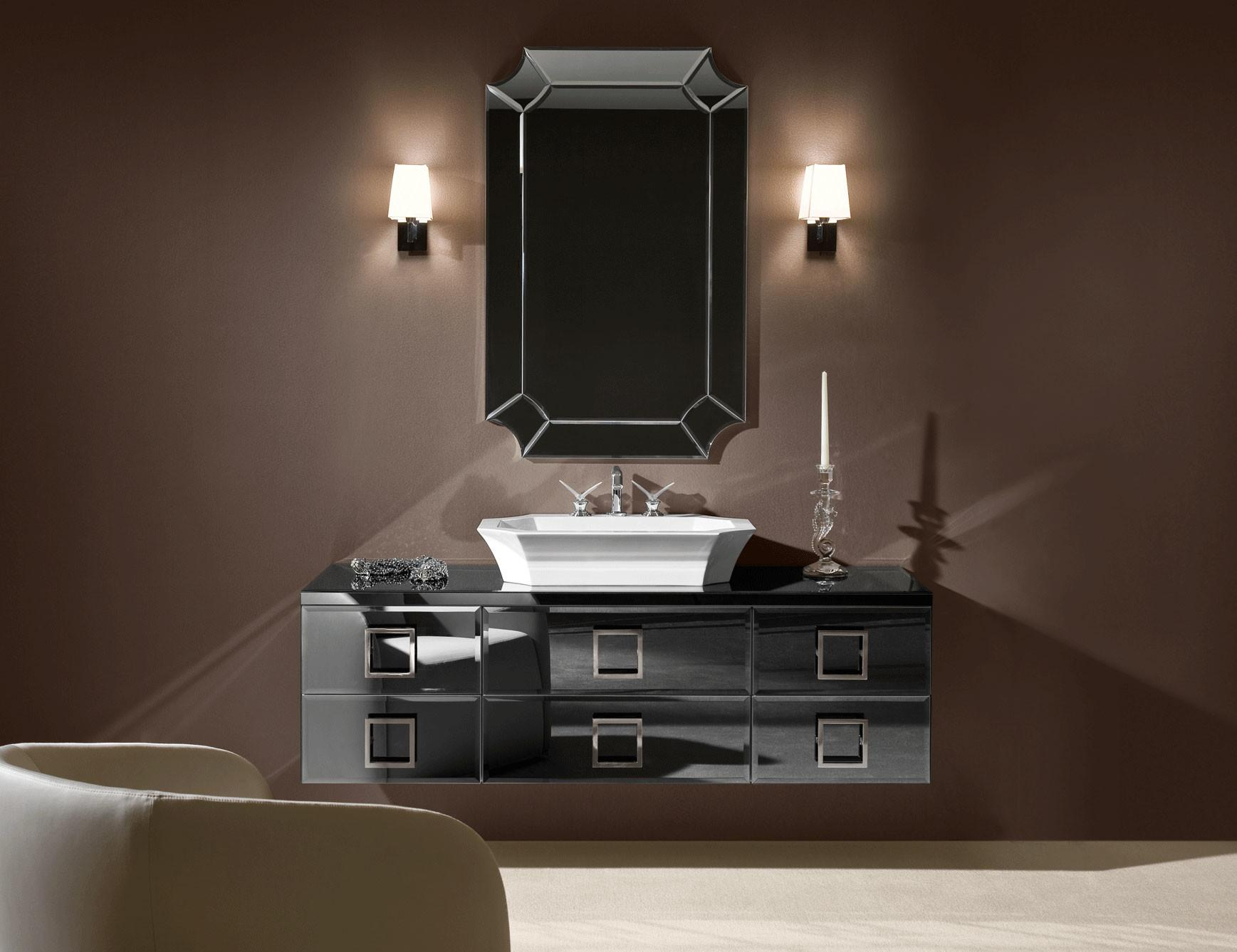 Daphne High End Italian Bathroom Vanity Black