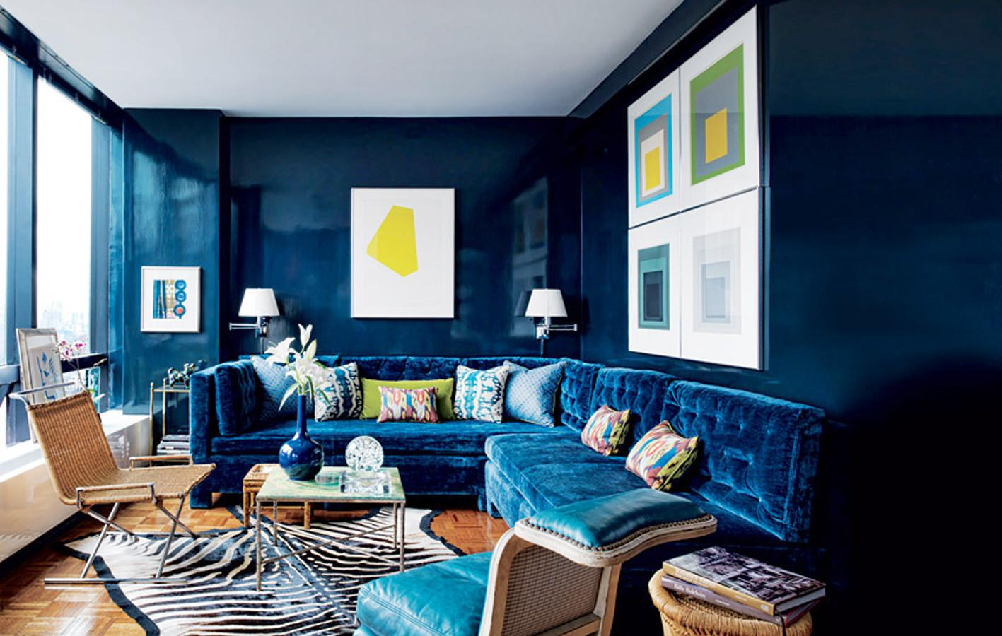 Dark Blue Interior Designs Furnitureteams
