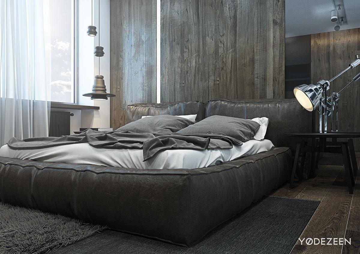 Dark Calming Bachelor Bad Natural Wood Concrete