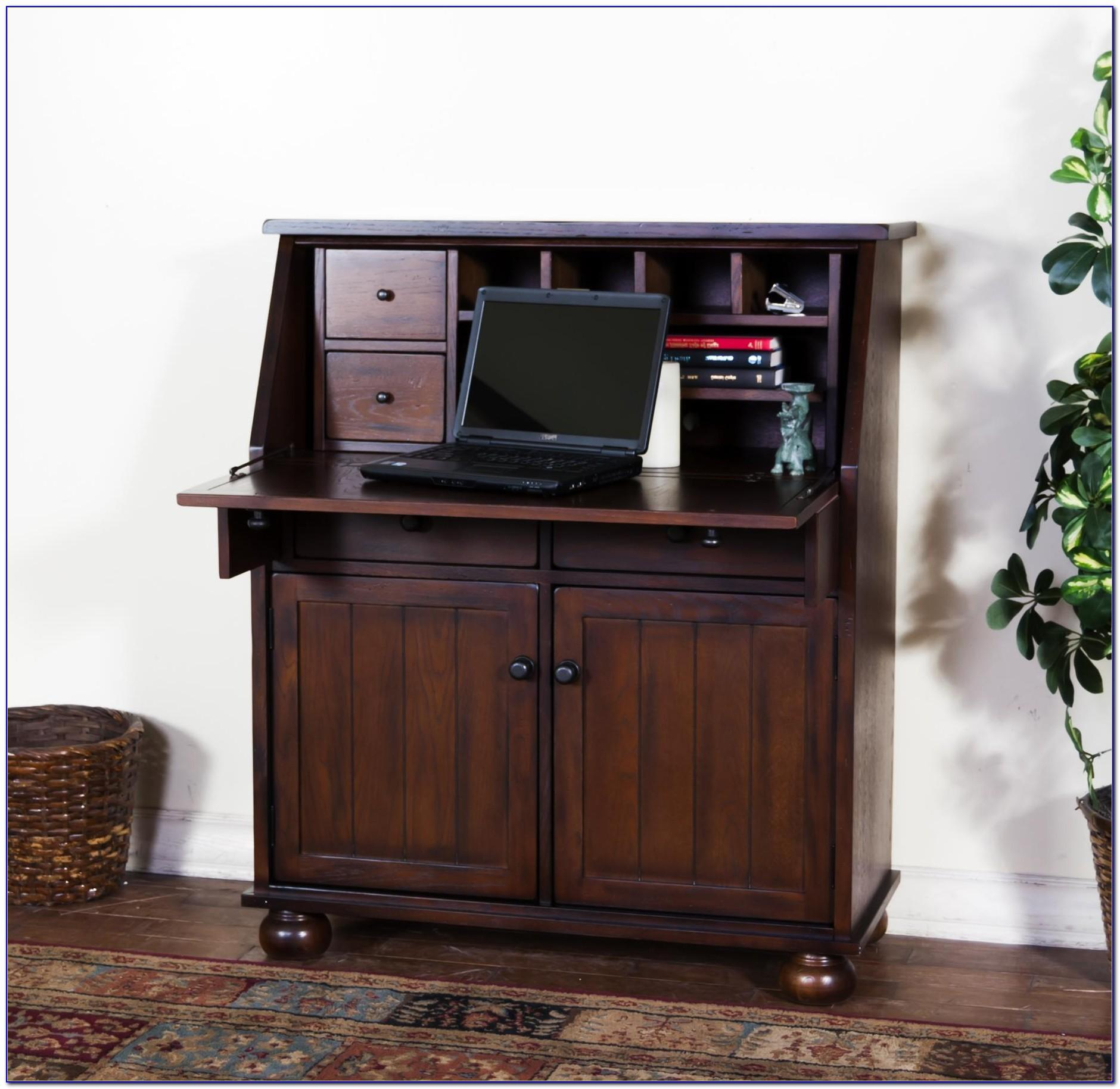 Dark Oak Hideaway Computer Desk Home Design Ideas