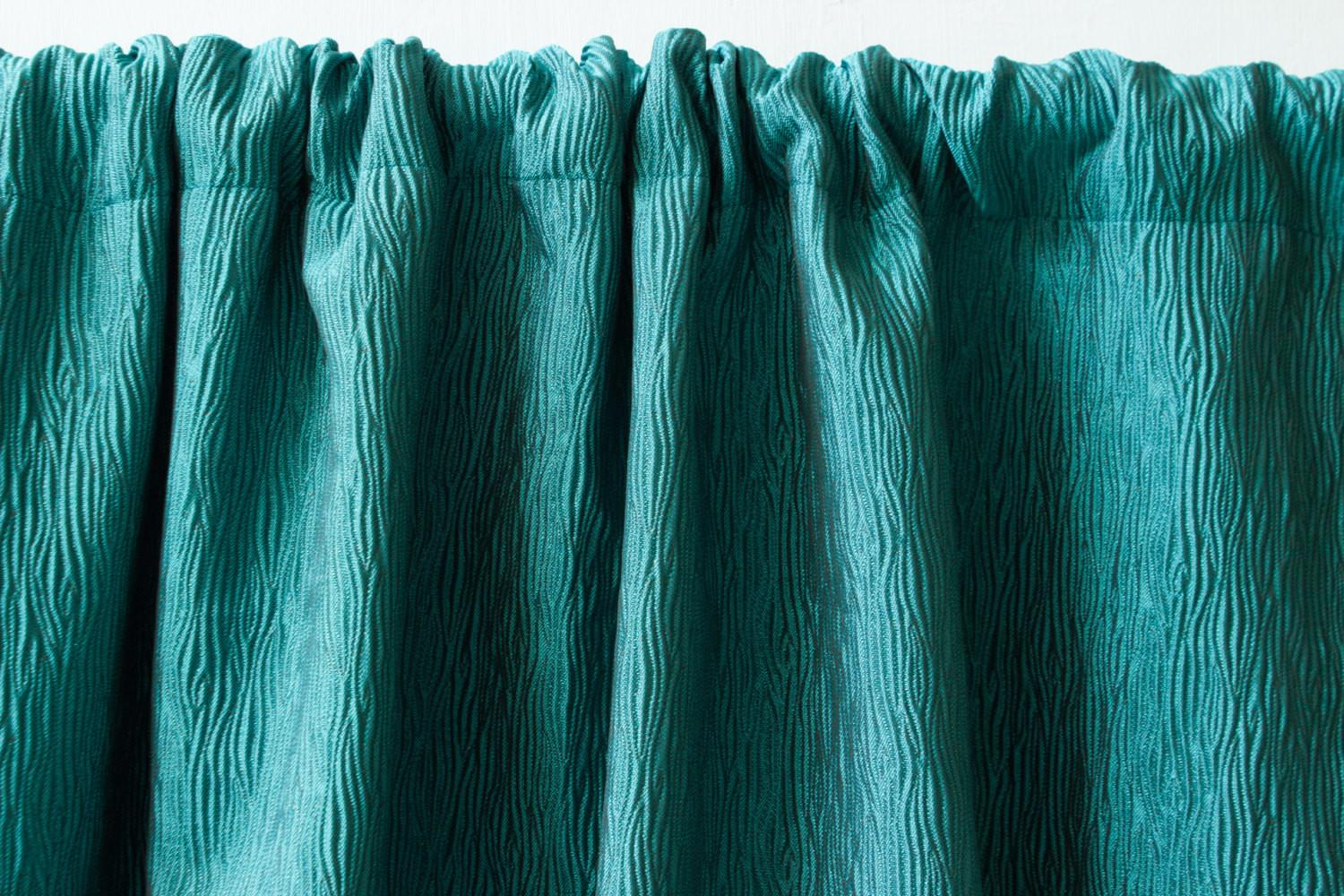 Dark Teal Silk Window Curtain Panels Custom Curtains