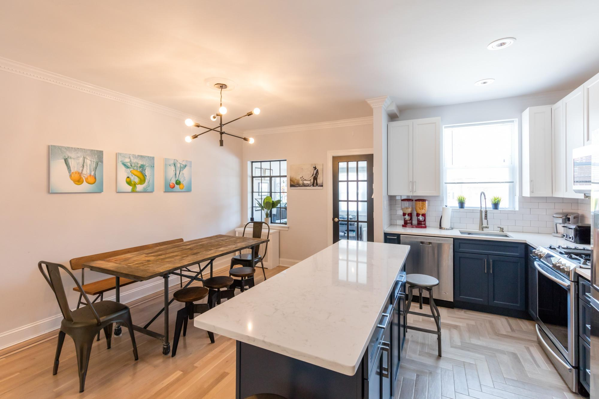 Dated Queens Townhouse Transformed Into Modern