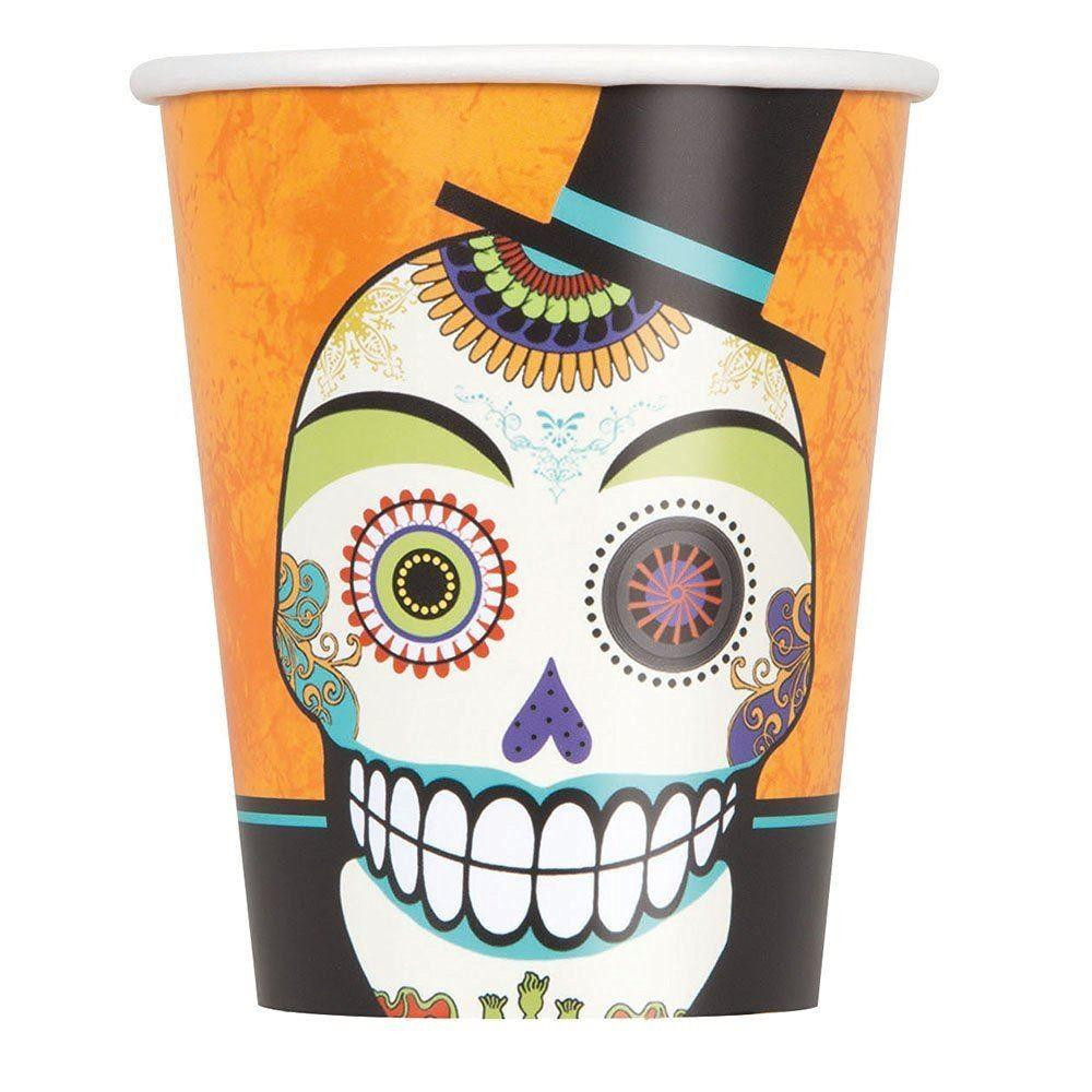 Day Dead Halloween Party Tableware Supplies