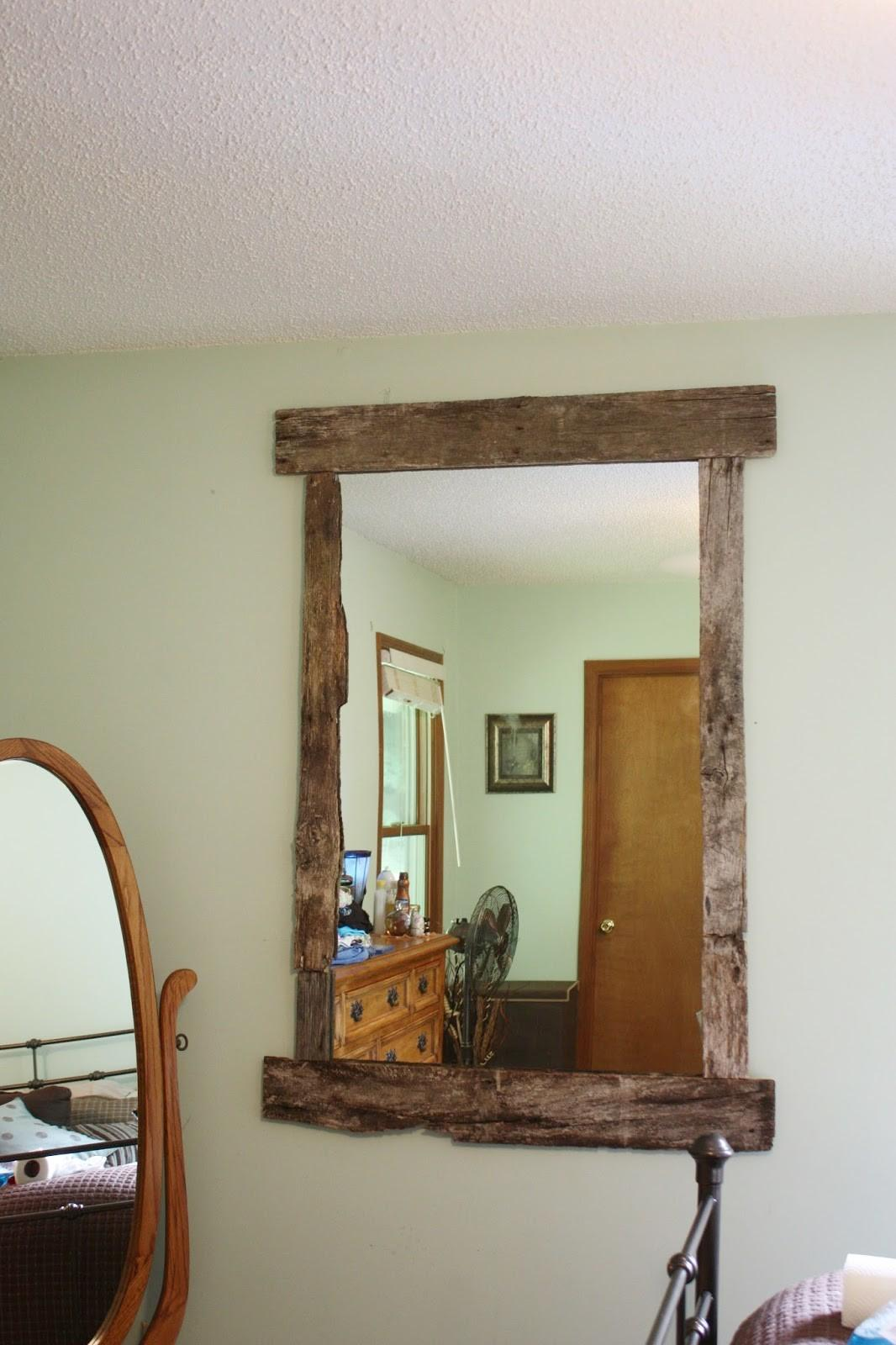 Day Life One Girl Diy Rustic Mirror Frame