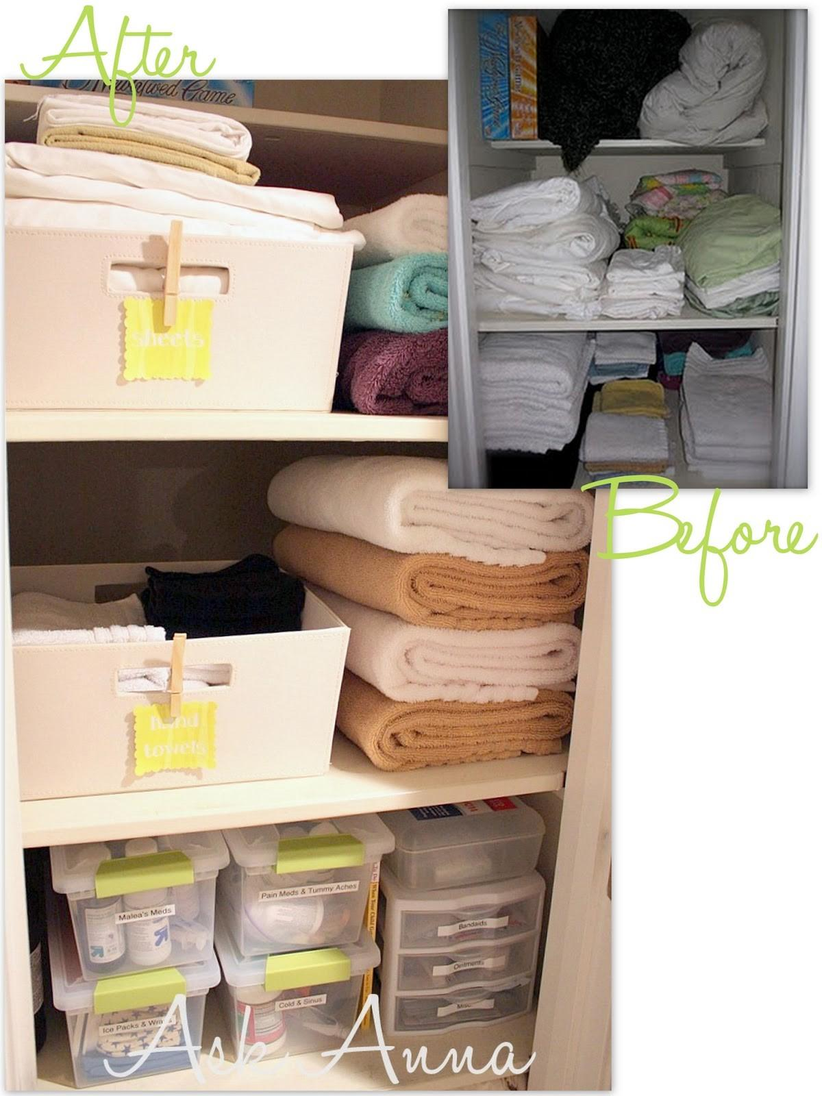 Days Organizing Tips Day Linen Closet