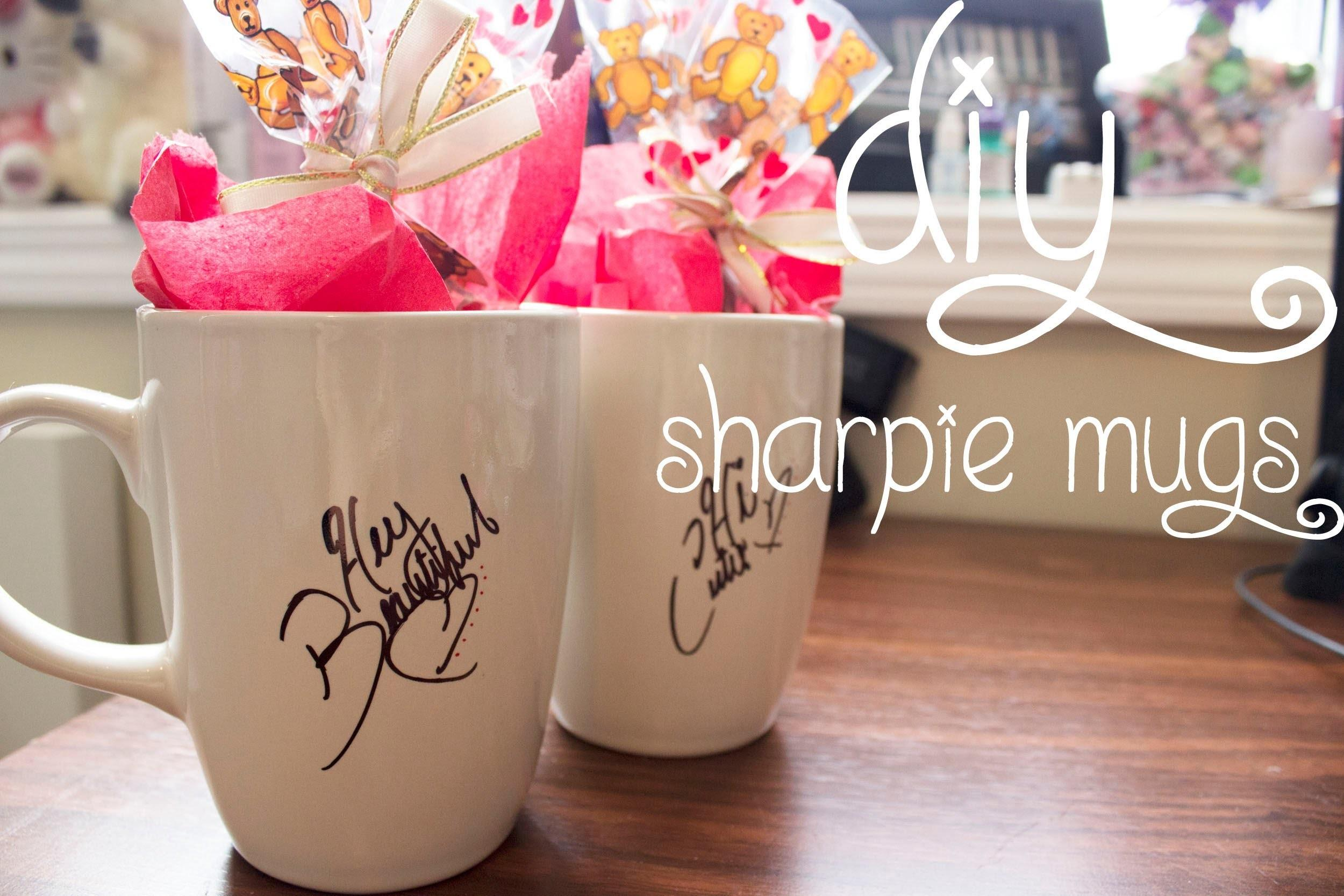 Days Valentine Day Diy Sharpie Mugs