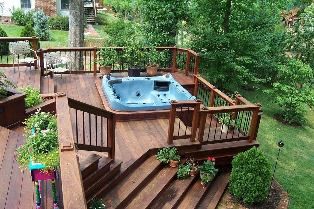 Deck Design Hot Tub Backyard Ideas