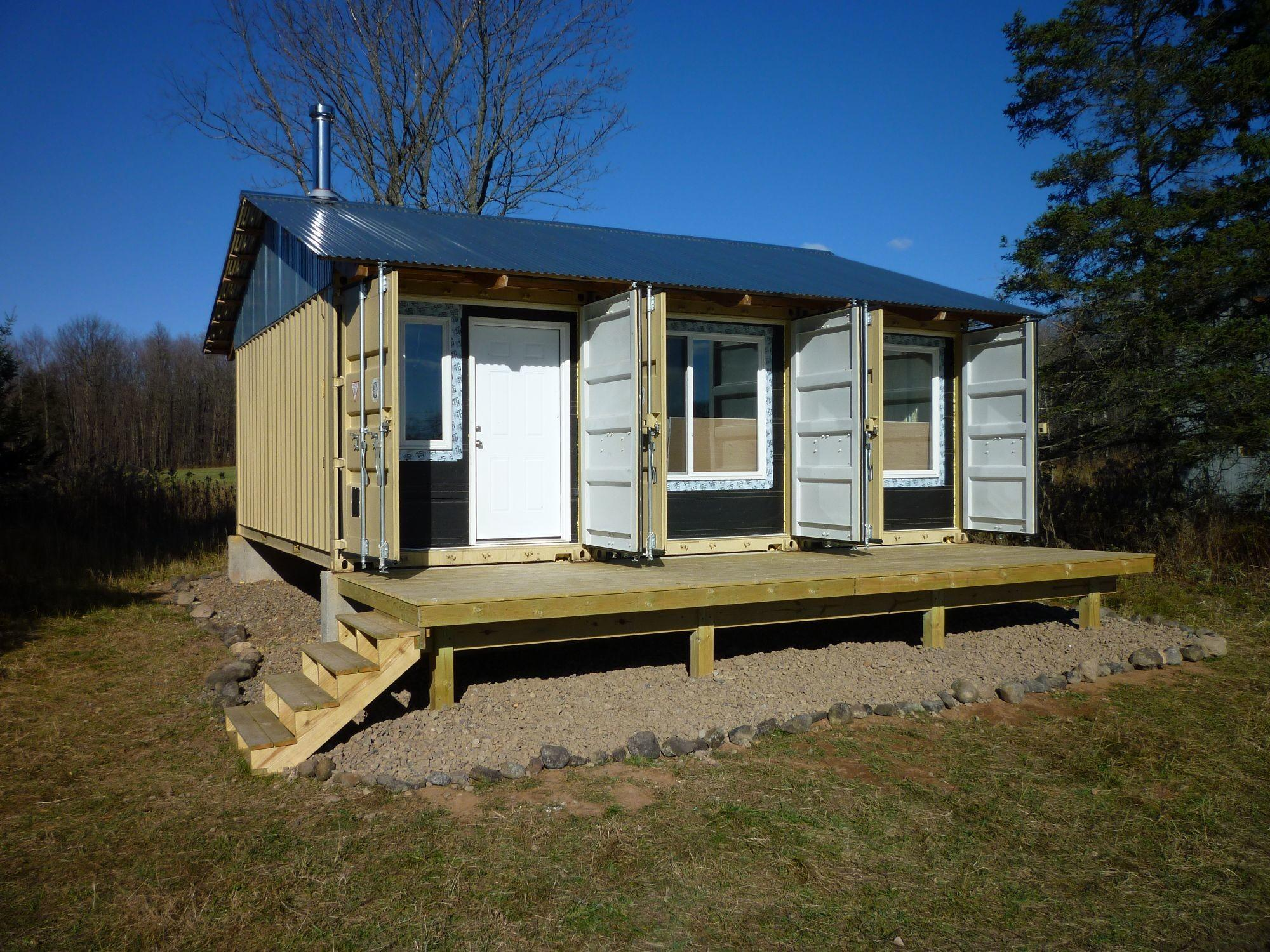 Deck Landscaping Tin Can Cabin