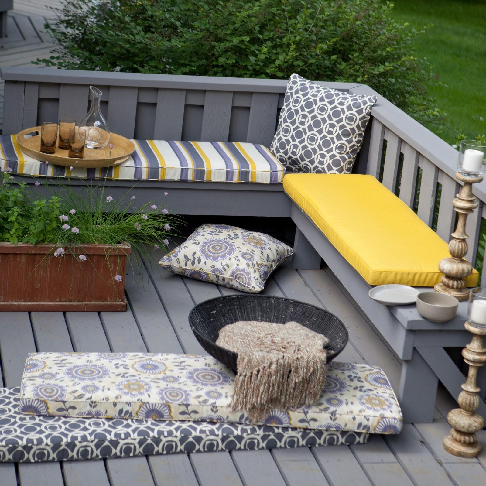 Deck Outdoor Bench Cushions Trends Decorating Savwi