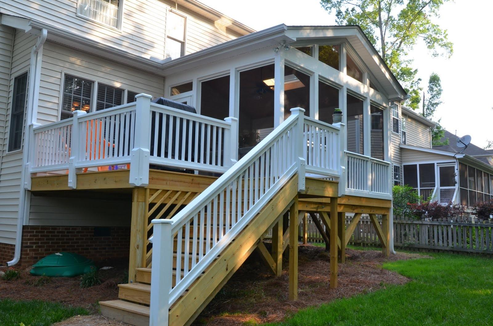 Deck Over Screened Porch Patio