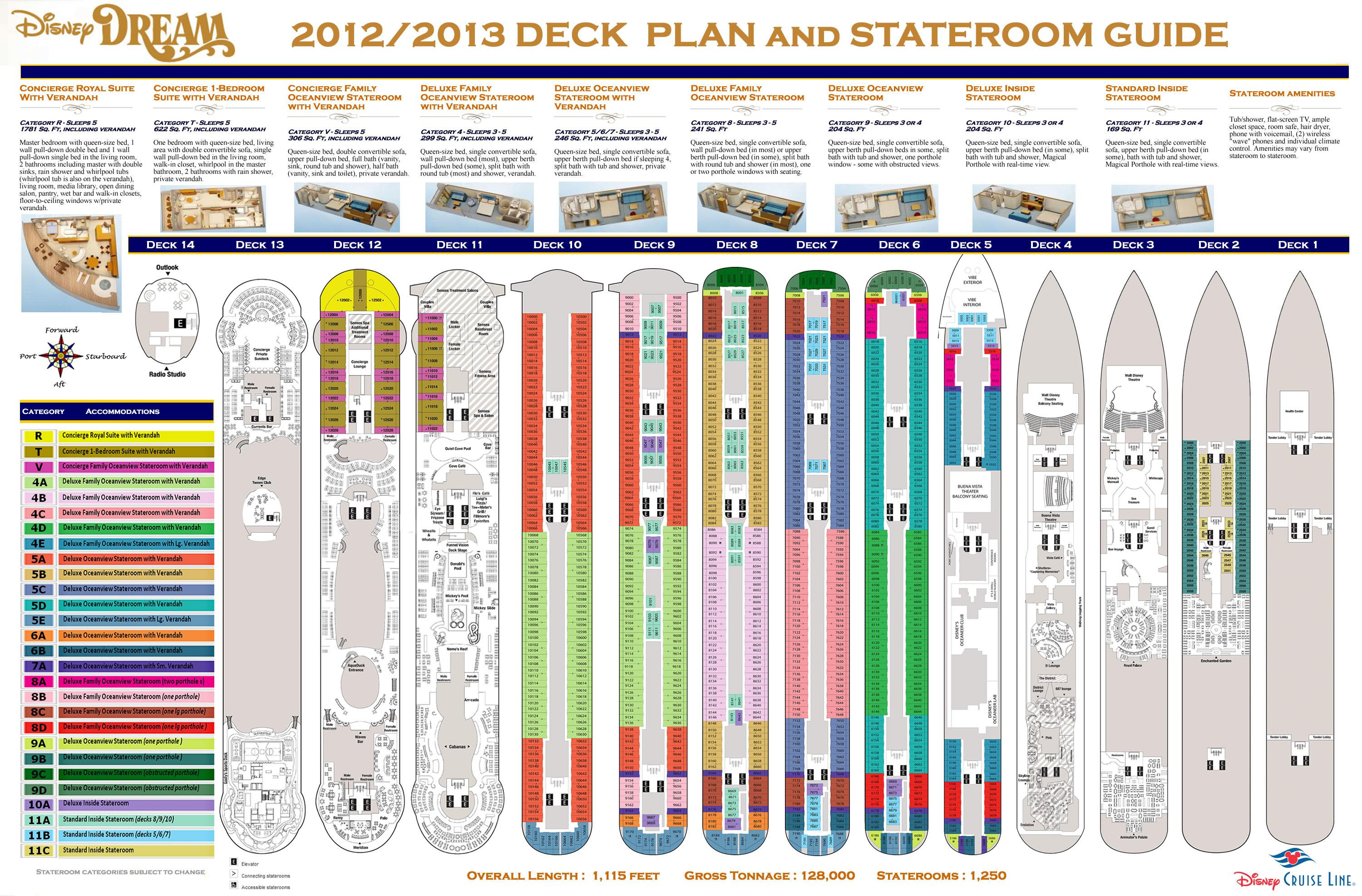 Deck Plans Disney Dream Design Ideas