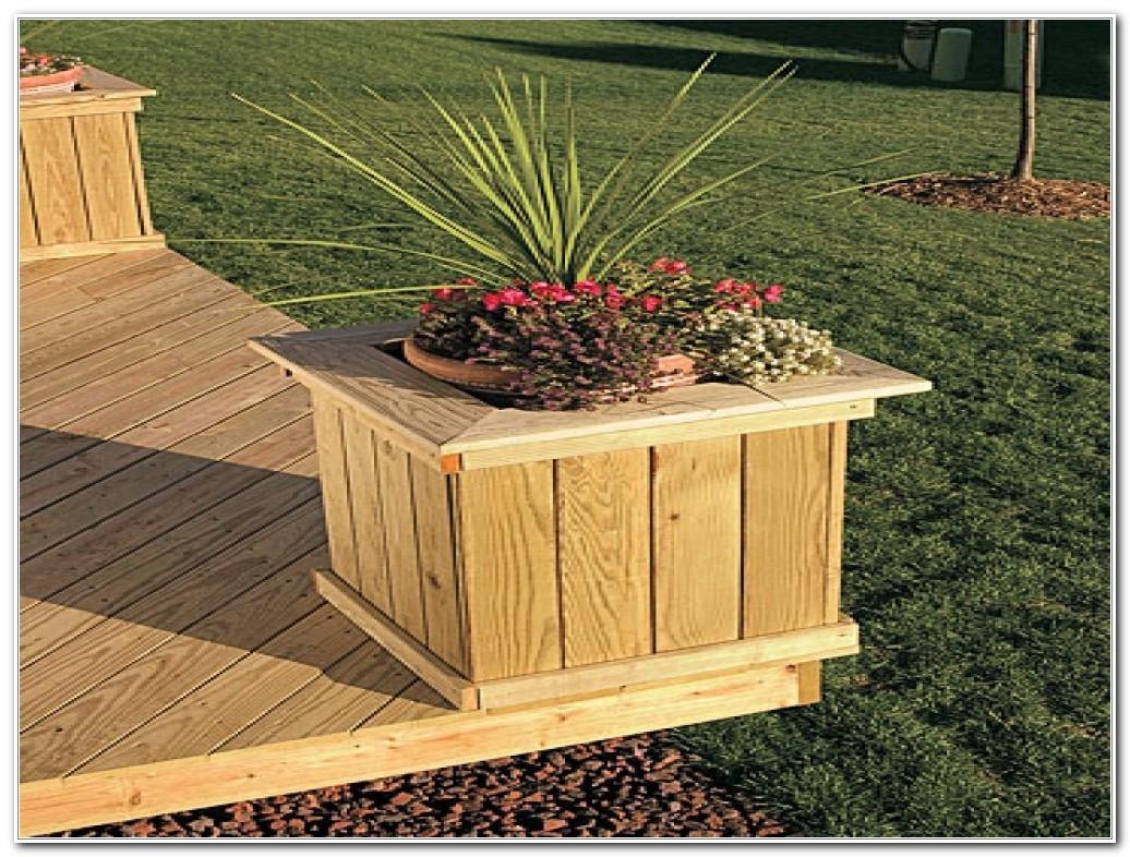 Deck Planter Box Diy Decks Home Decorating Ideas