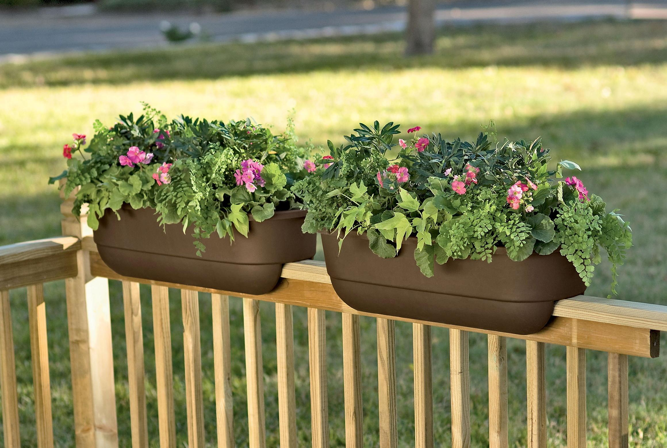 Deck Railing Planter Ideas Home Design
