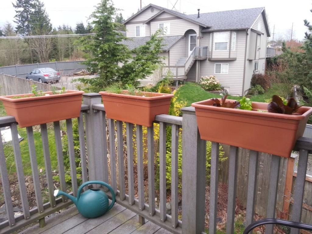 Deck Railing Planter Ideas Stairs Kitchen