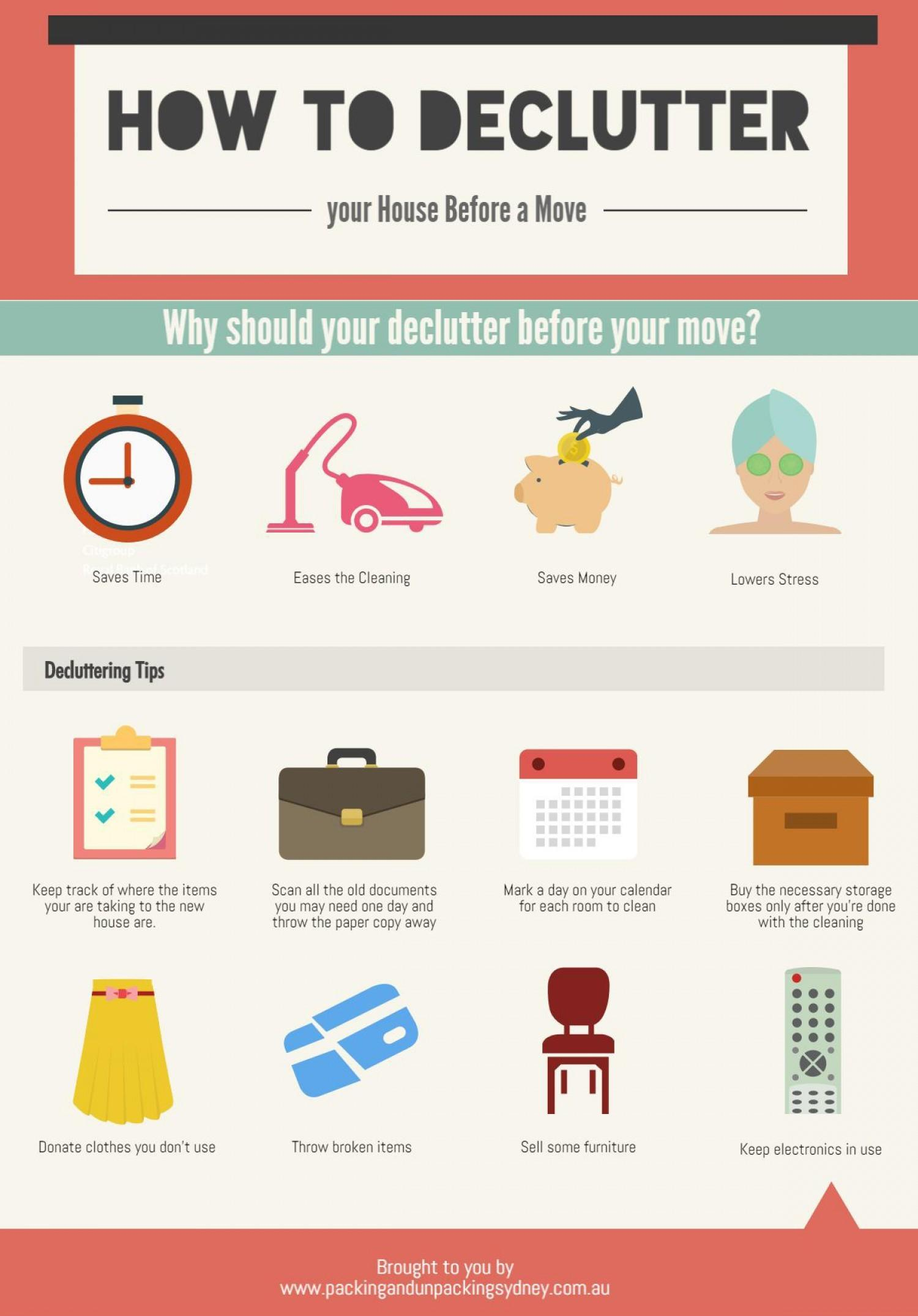 Declutter Your House Before Move Visual