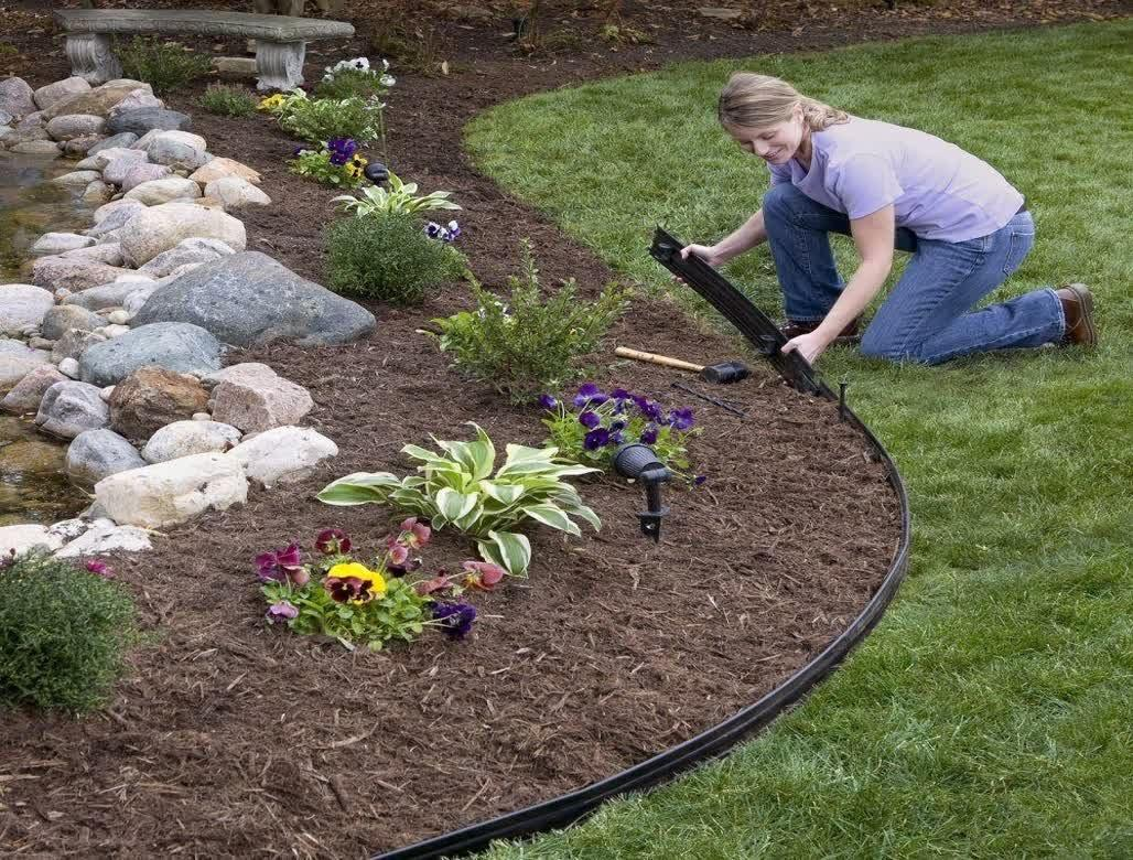 Decor Captivating Metal Landscape Edging Garden