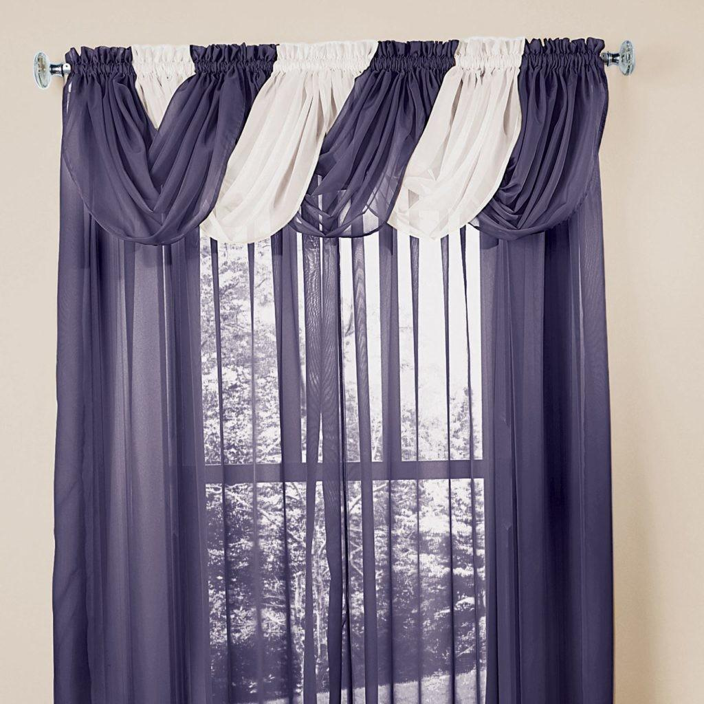Decor Crushed Sheer Valances Brown Windows Covering