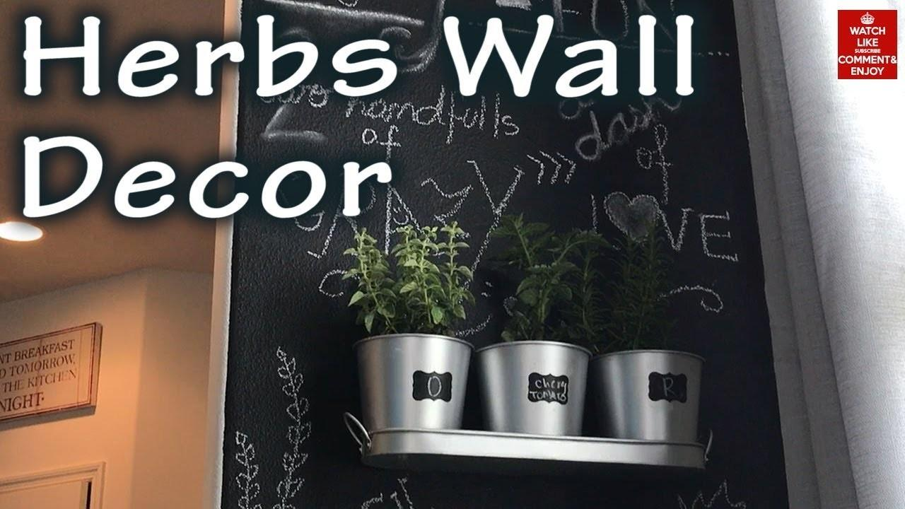 Decor Diy Chalkboard Herbs Wall Crafts Projects
