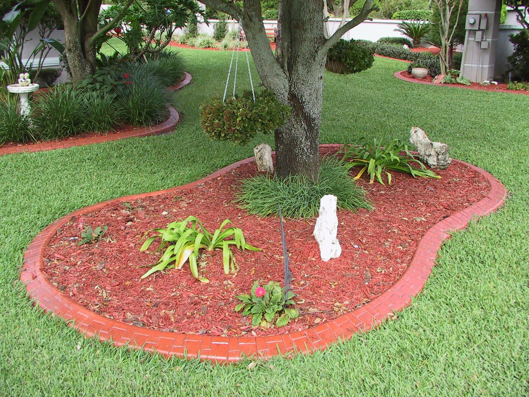 Decor Edging Bricks Flower Bed Borders Landscape