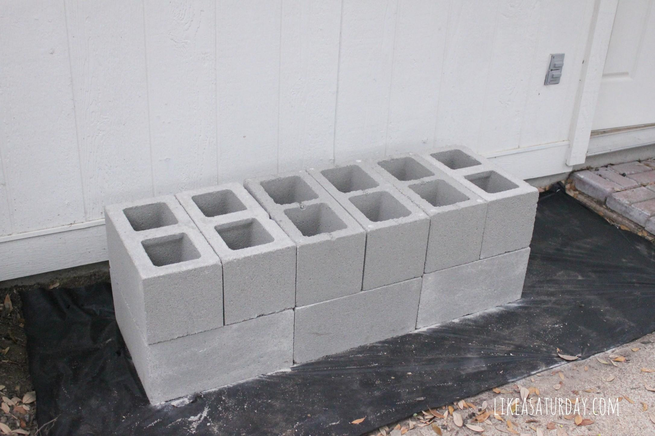 Decor Home Depot Cinder Blocks Deck Base Ideas