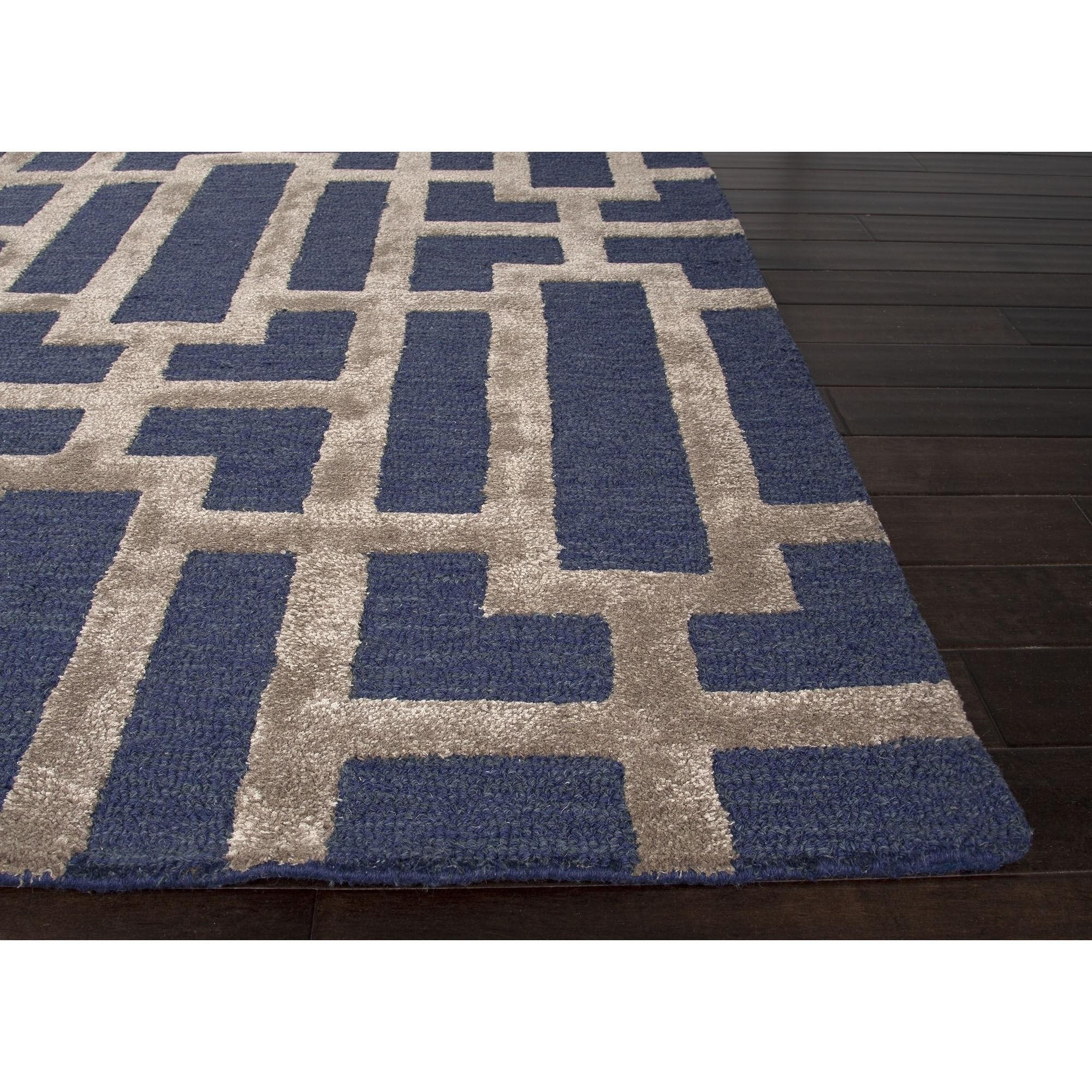 Decor Navy Blue Tan Area Rug Flooring Decoration