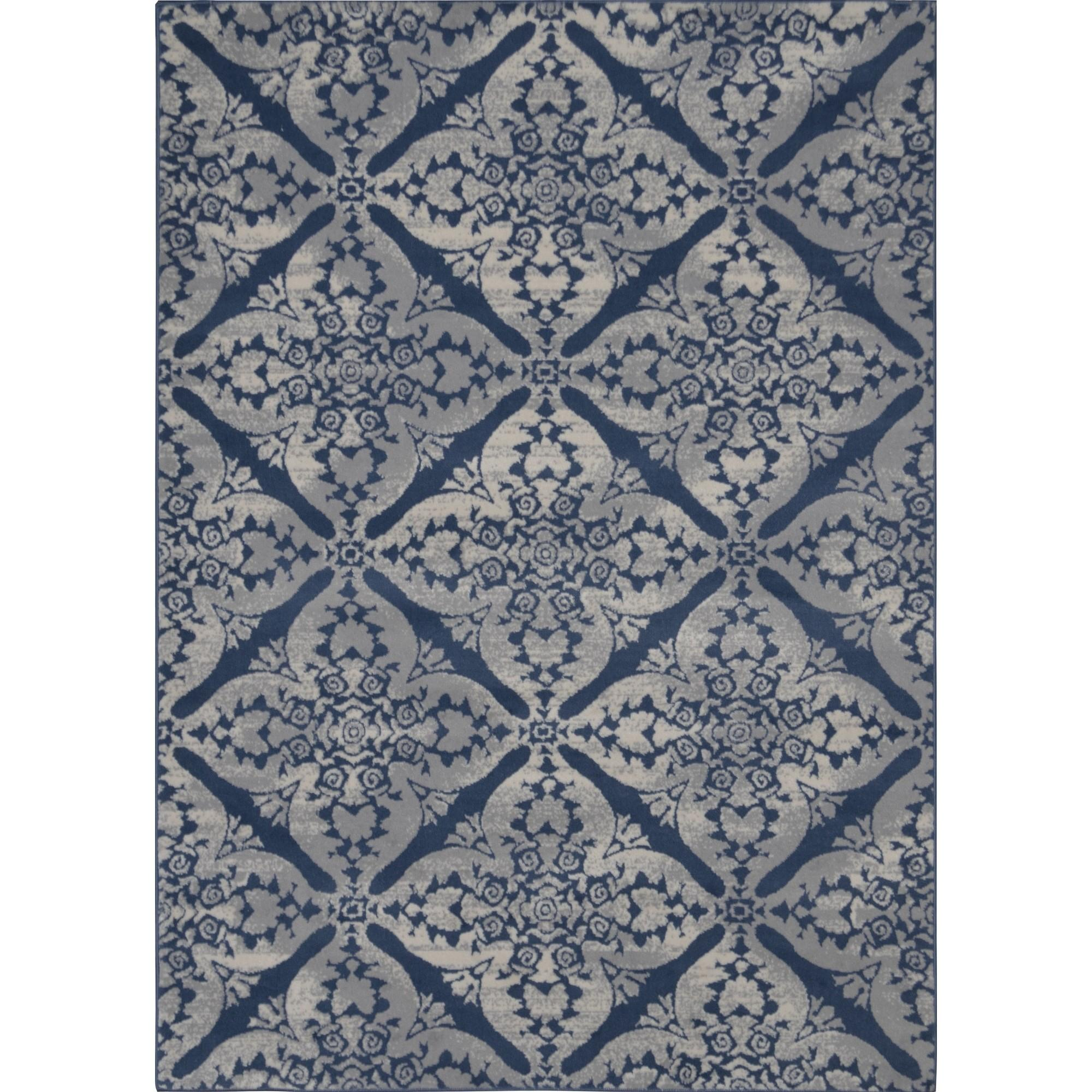 Decor Solid Navy Blue Area Rug