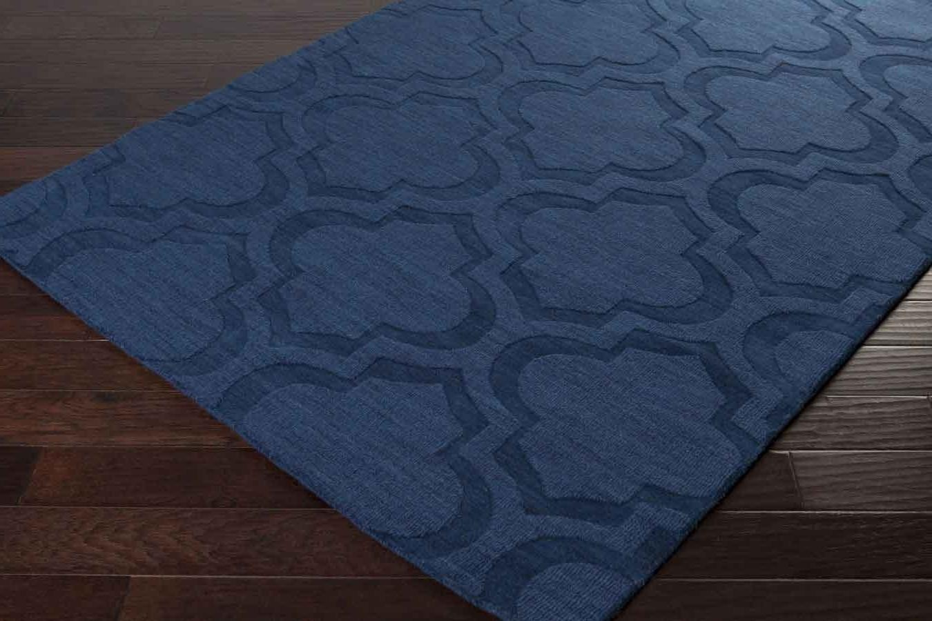 Decor Solid Navy Blue Area Rug Hardwood