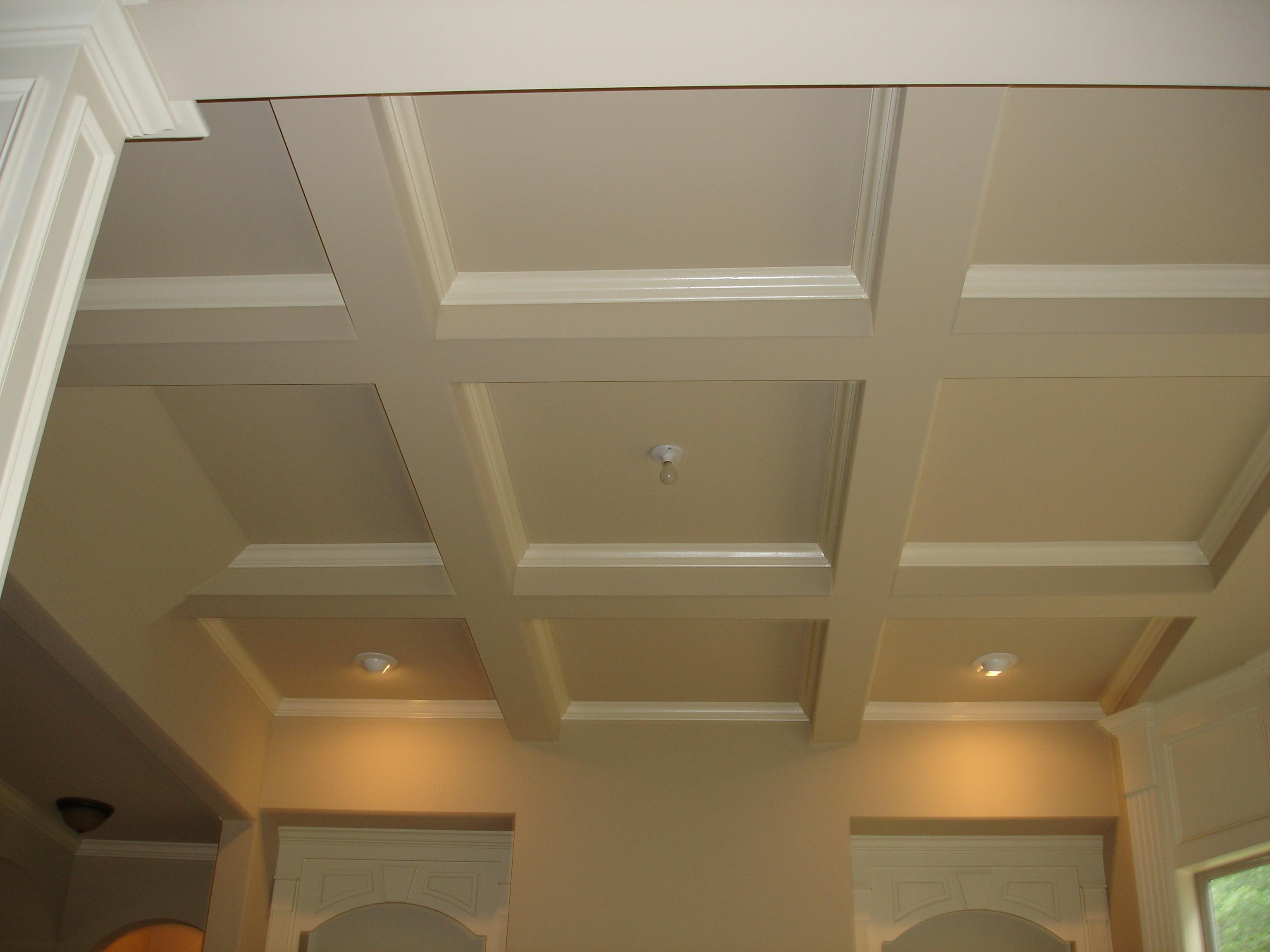 Decor Tips Beautiful Coffered Ceilings Spice Your Room