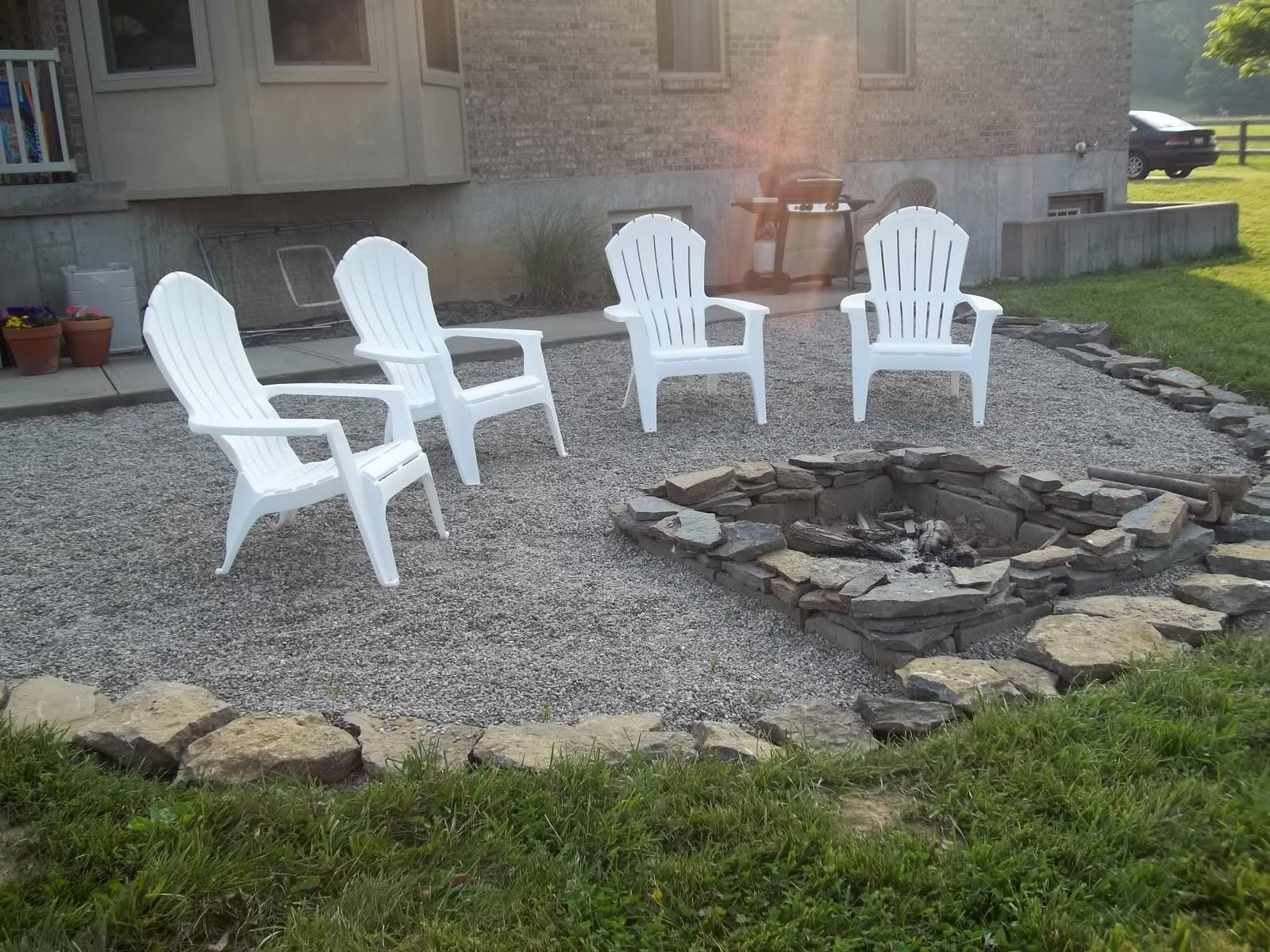 Decor Tips Gravel Patio Ideas Pea Firepits Also