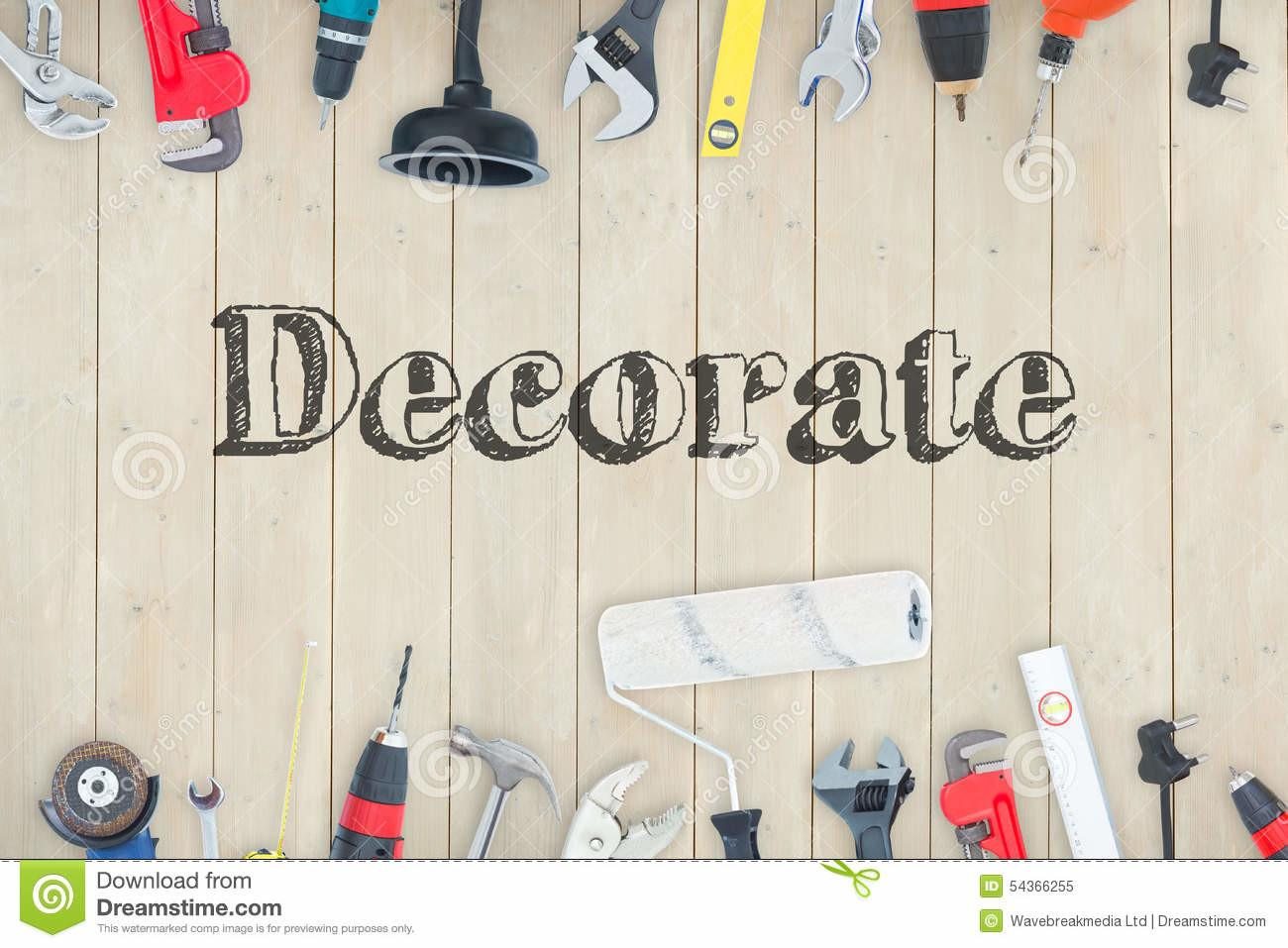 Decorate Against Diy Tools Wooden Stock