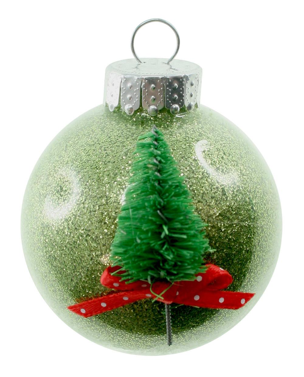 Decorate Clear Glass Ornaments