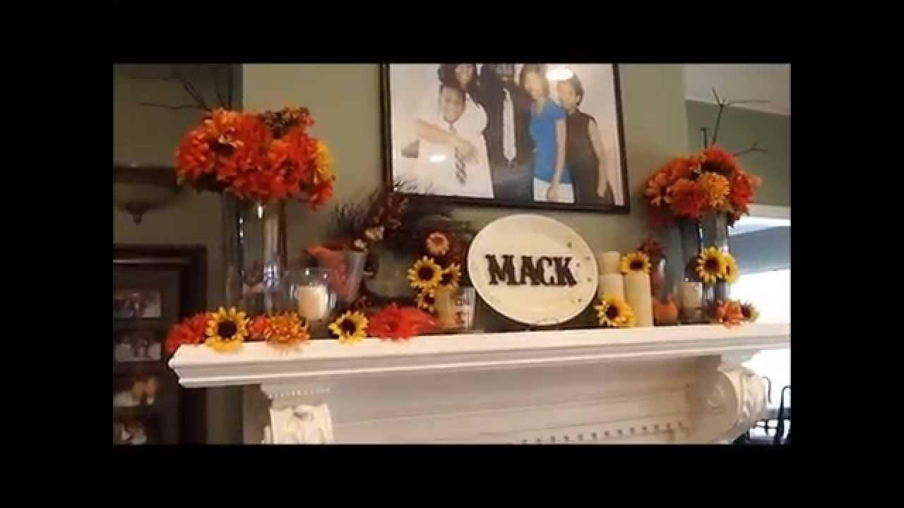 Decorate Fireplace Mantle Fall Decor