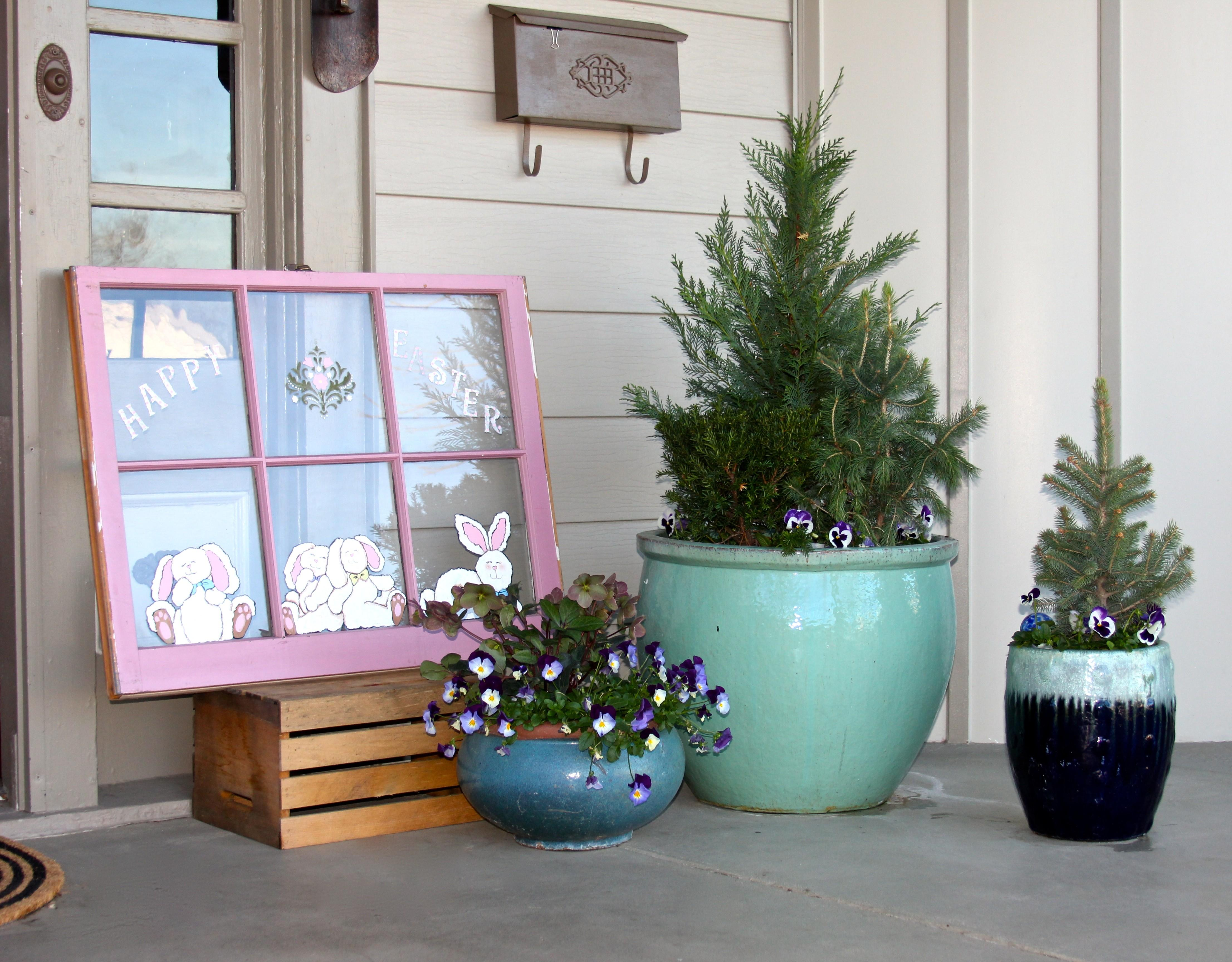 Decorate Front Porch Easter Sweet Sorghum