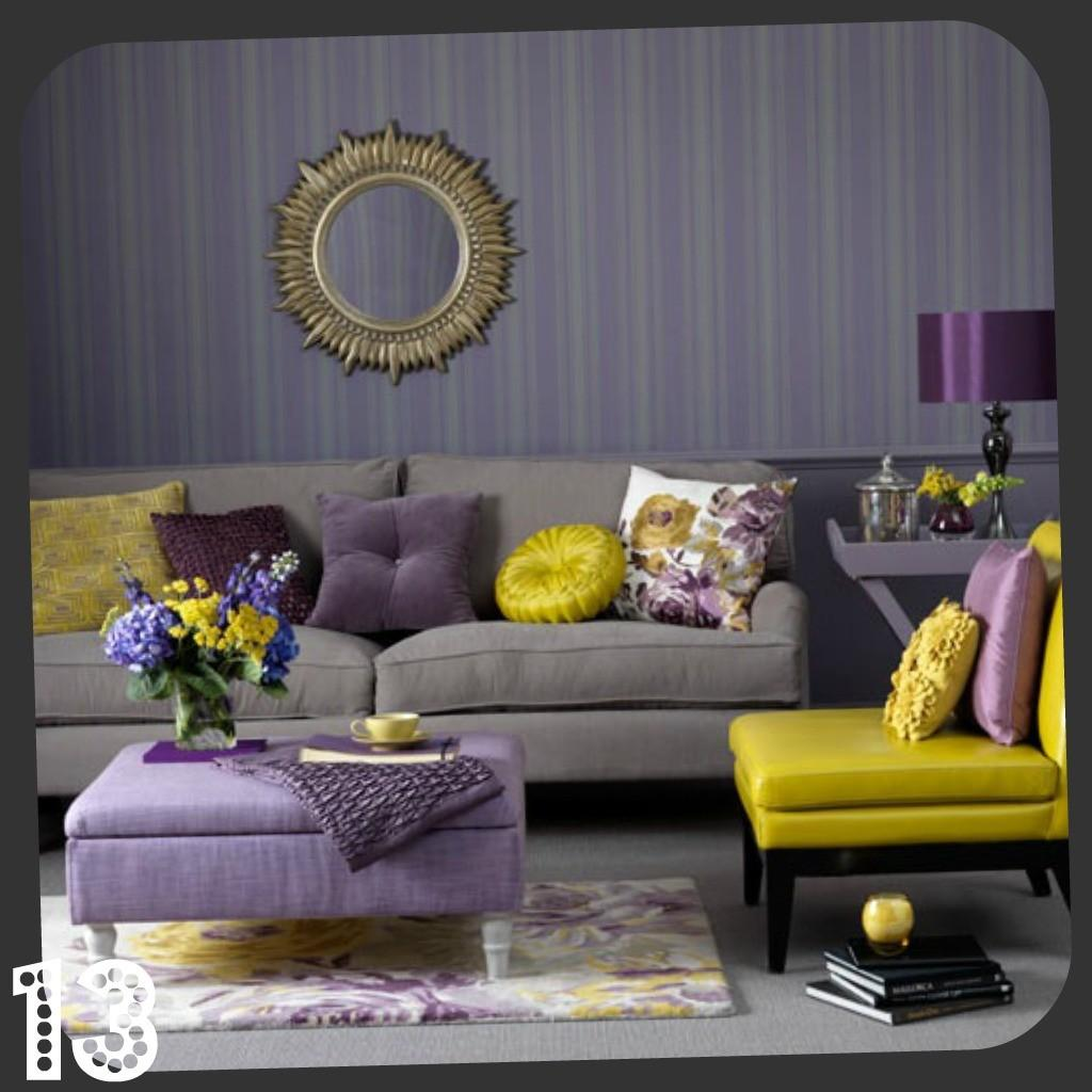 Decorate Purple Small Living Room